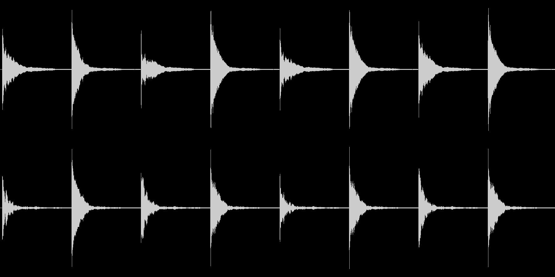クイズ/シンキングタイム/マレットの未再生の波形