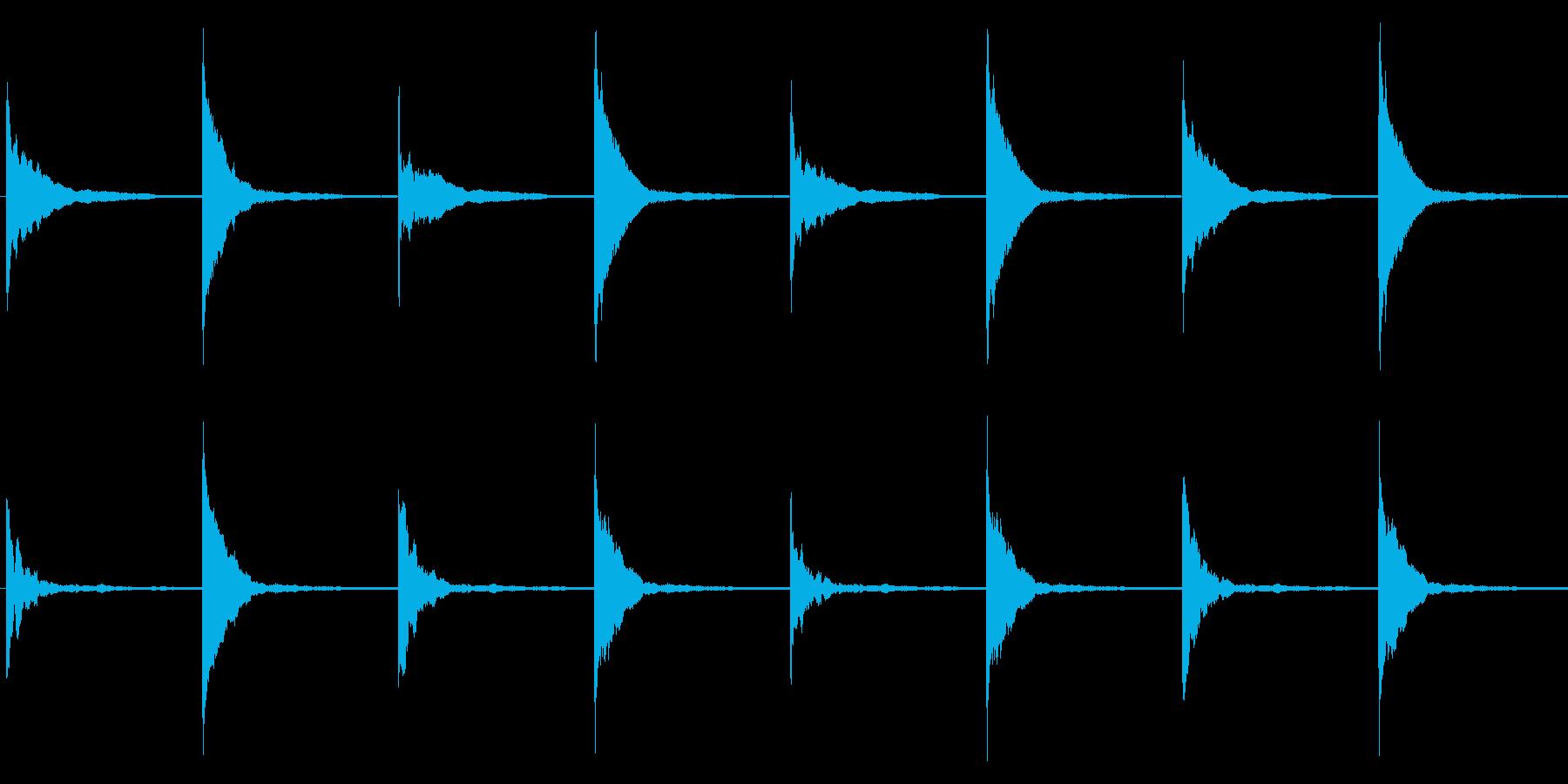 クイズ/シンキングタイム/マレットの再生済みの波形