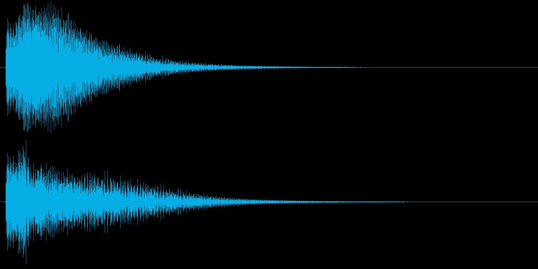 ボタンを押した時の取り消しや決定音です の再生済みの波形