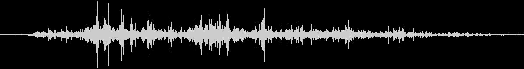 ゴロゴロ激しいゴロゴロ雷鳴ーの未再生の波形