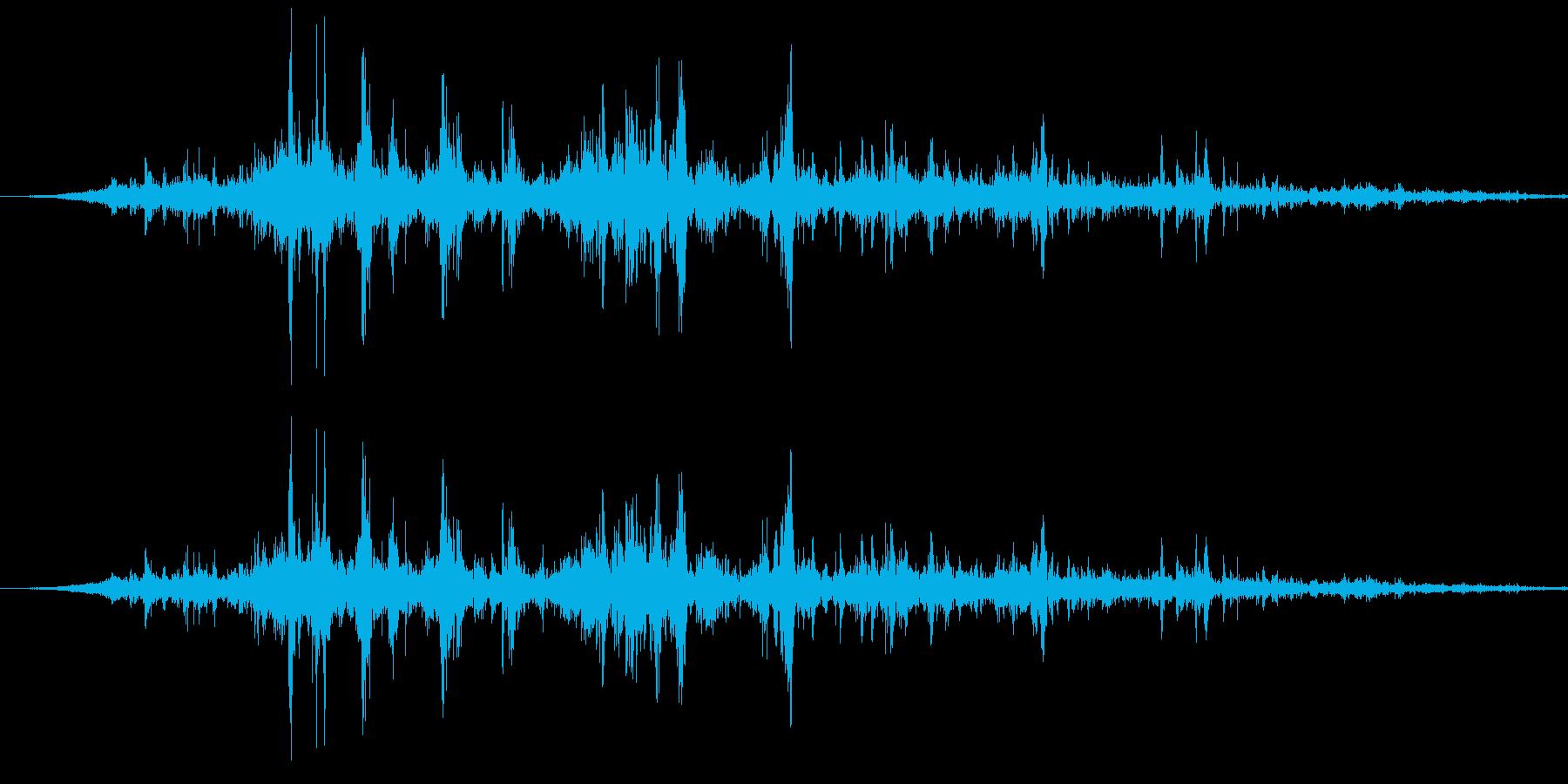 ゴロゴロ激しいゴロゴロ雷鳴ーの再生済みの波形