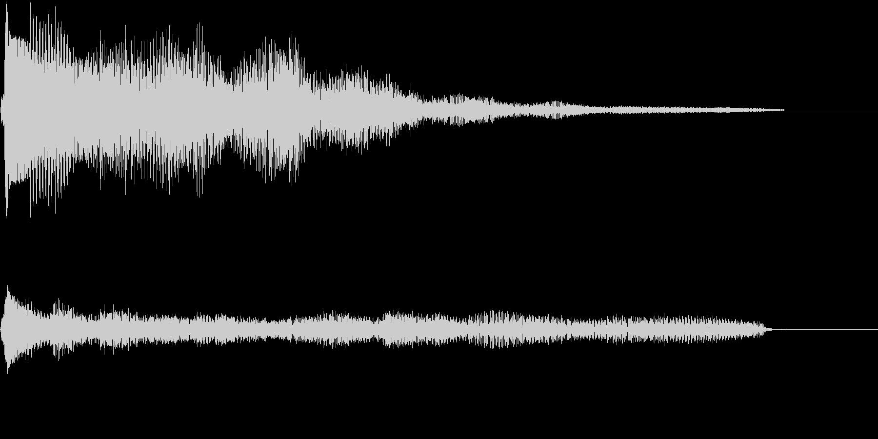 Eギター&ベルのジングルの未再生の波形