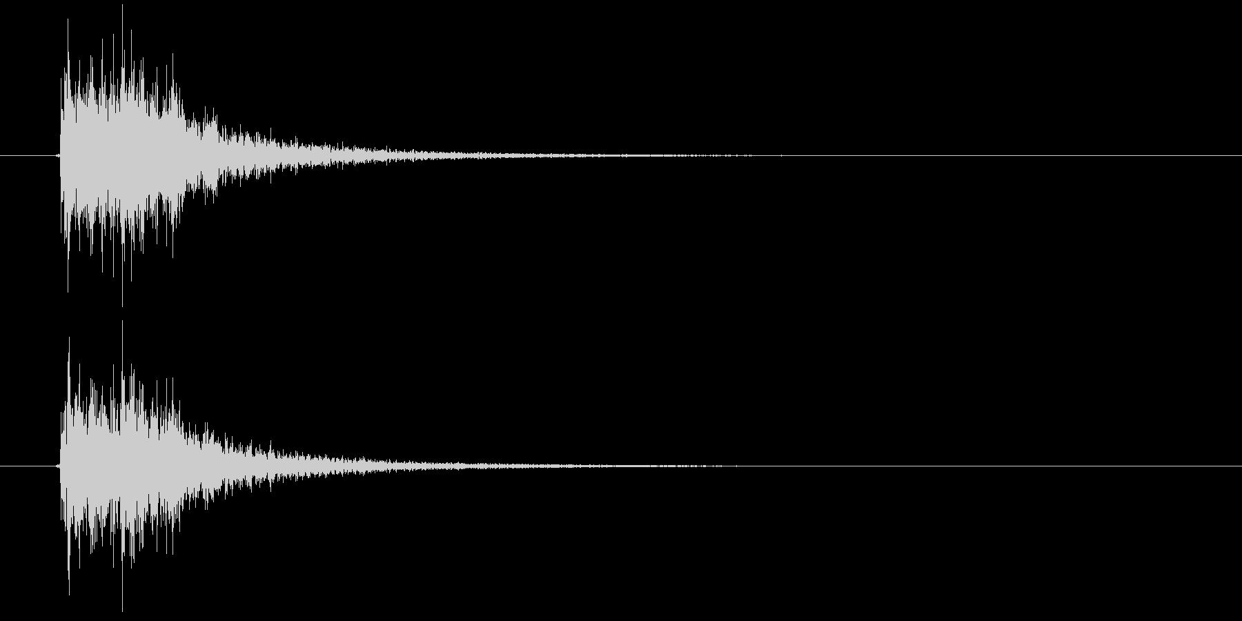 ぜんまいを巻く音の未再生の波形