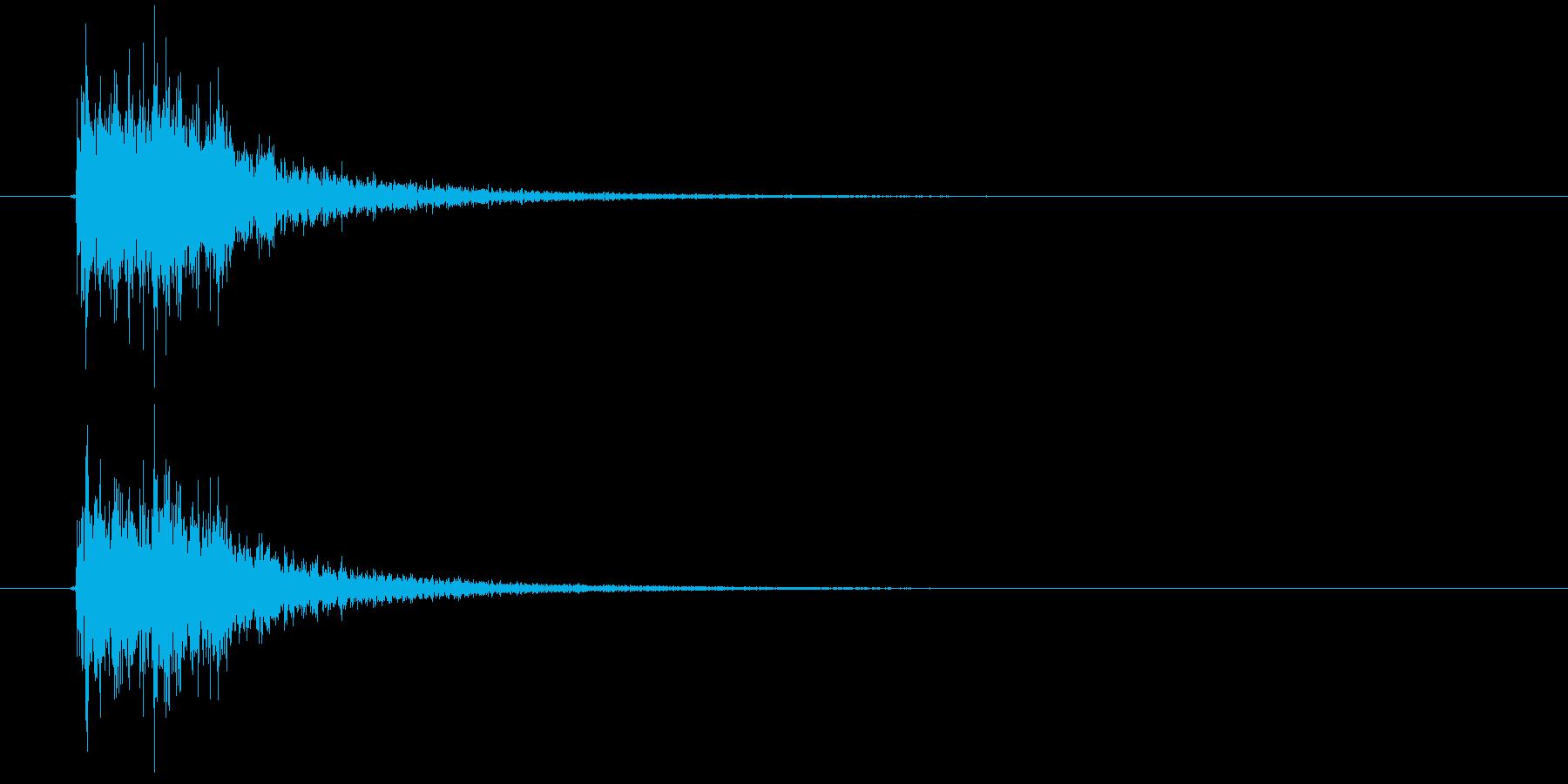 ぜんまいを巻く音の再生済みの波形