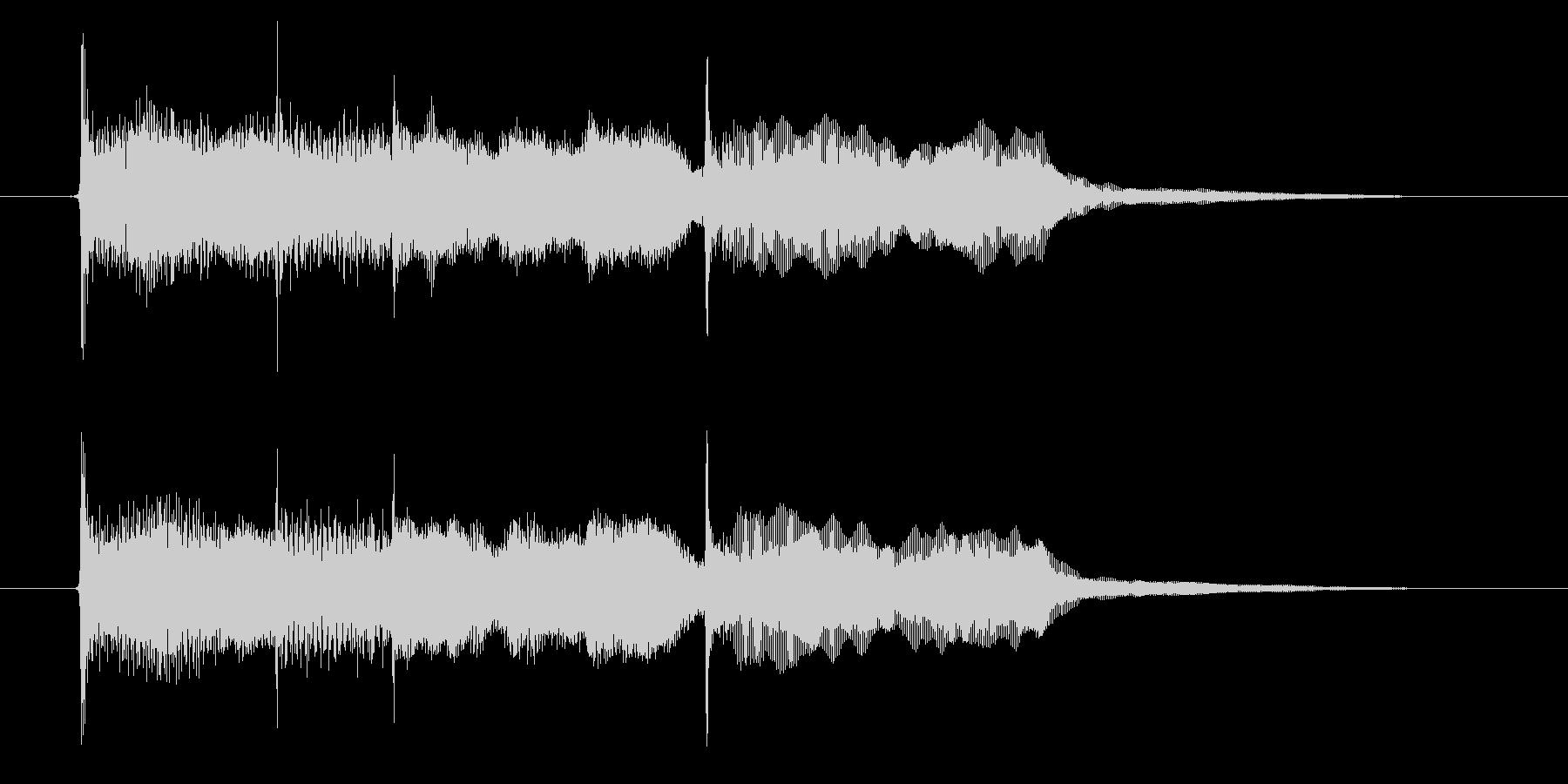 優しい音色のエレピによるポップなジングルの未再生の波形