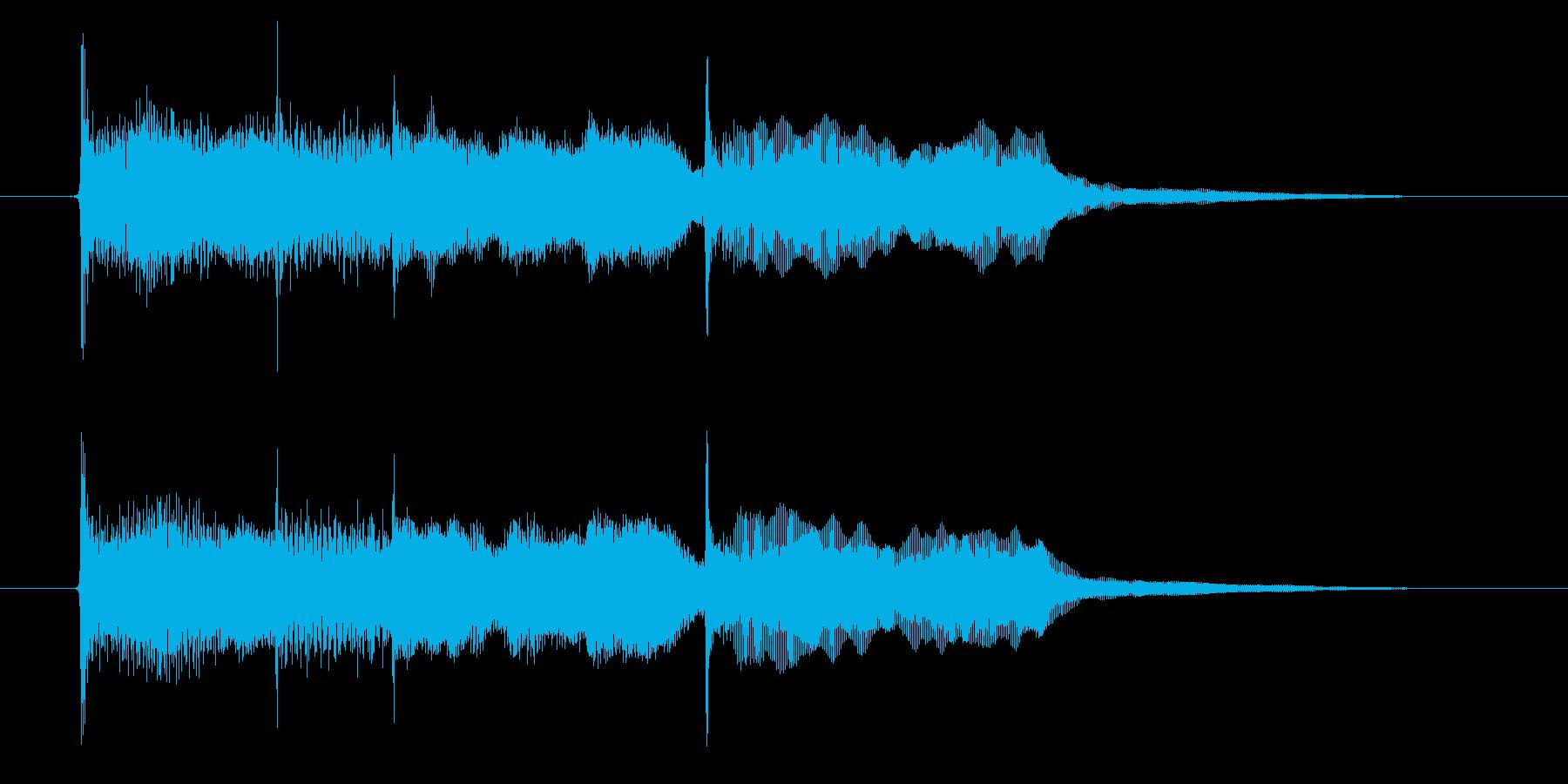 優しい音色のエレピによるポップなジングルの再生済みの波形