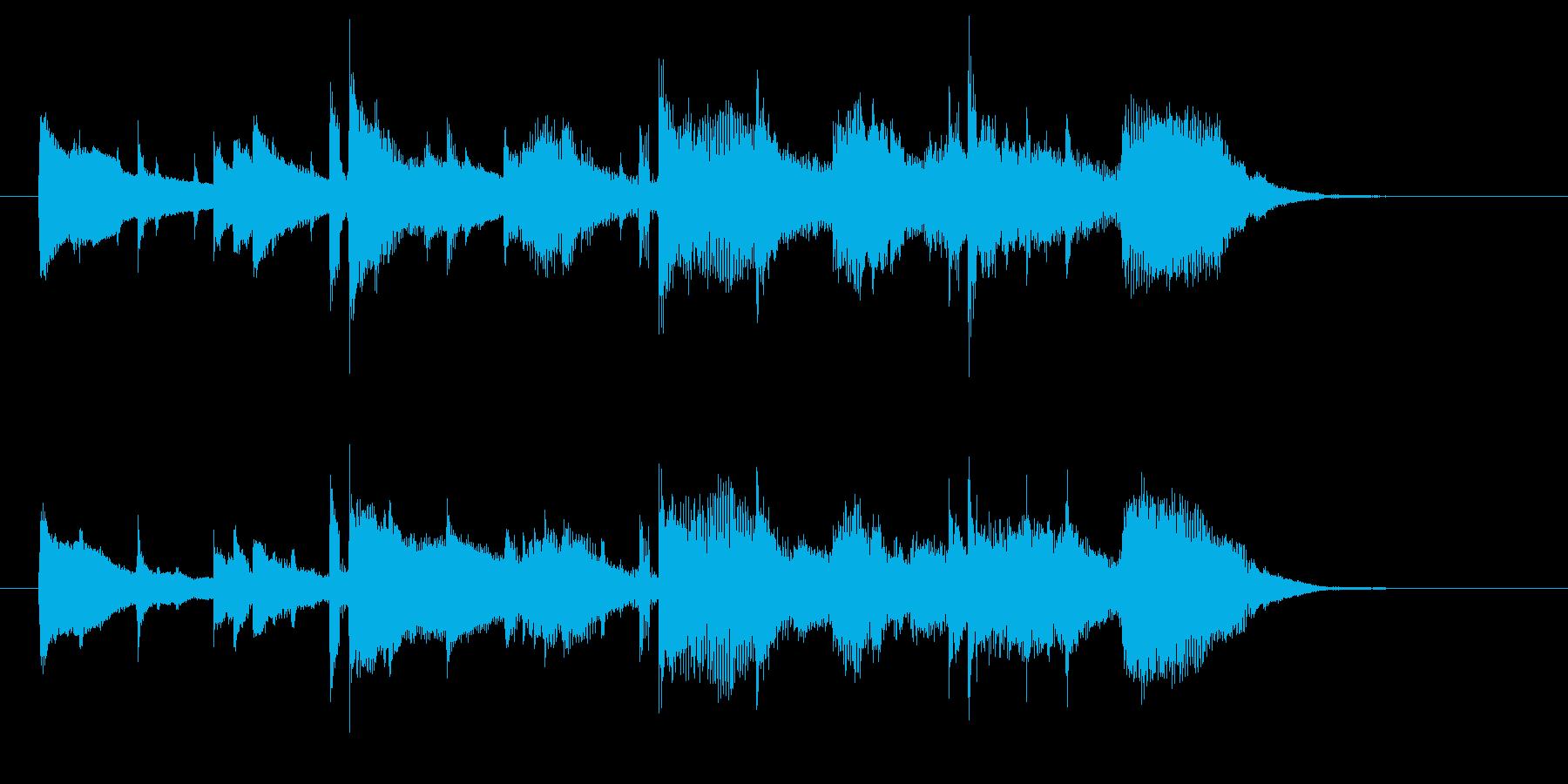 ストリングスがドラマチックな楽曲の再生済みの波形