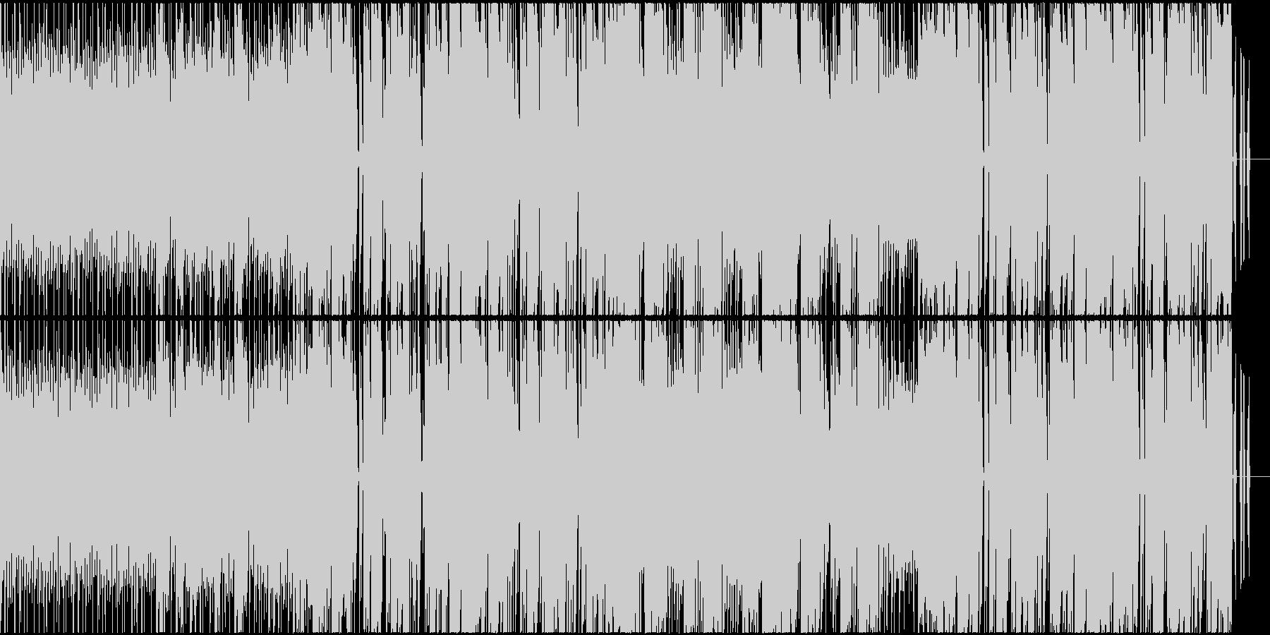パワフルなイメージのデジロック調インストの未再生の波形