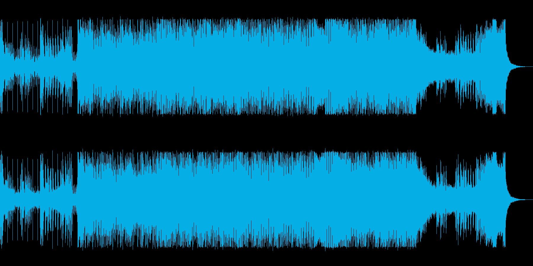 リズミカルでクールなテクノポップの再生済みの波形