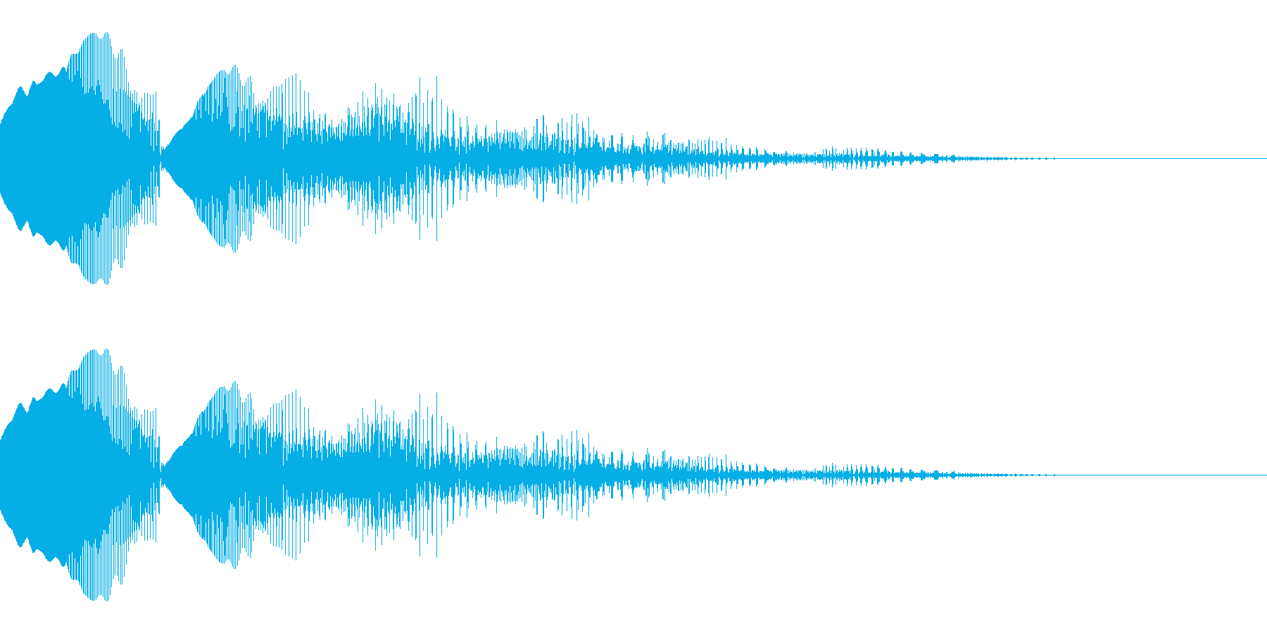 失敗・ミスをしたときの効果音_01の再生済みの波形