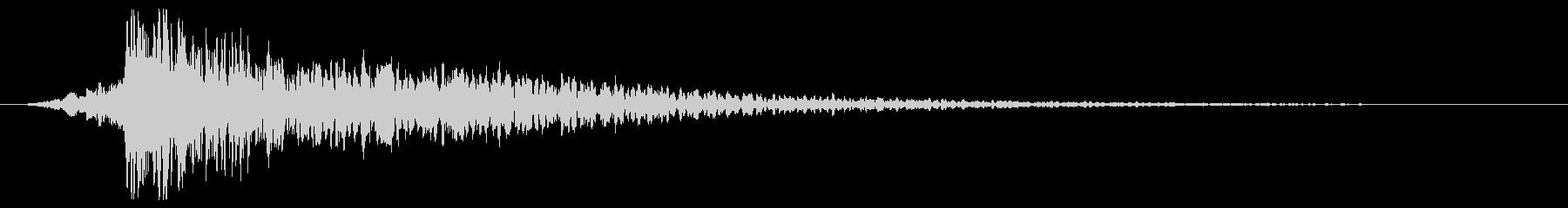 打撃音・爆発音・ヒット7-ヒュードーンッの未再生の波形