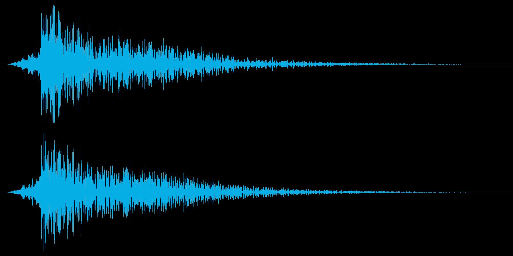 打撃音・爆発音・ヒット7-ヒュードーンッの再生済みの波形