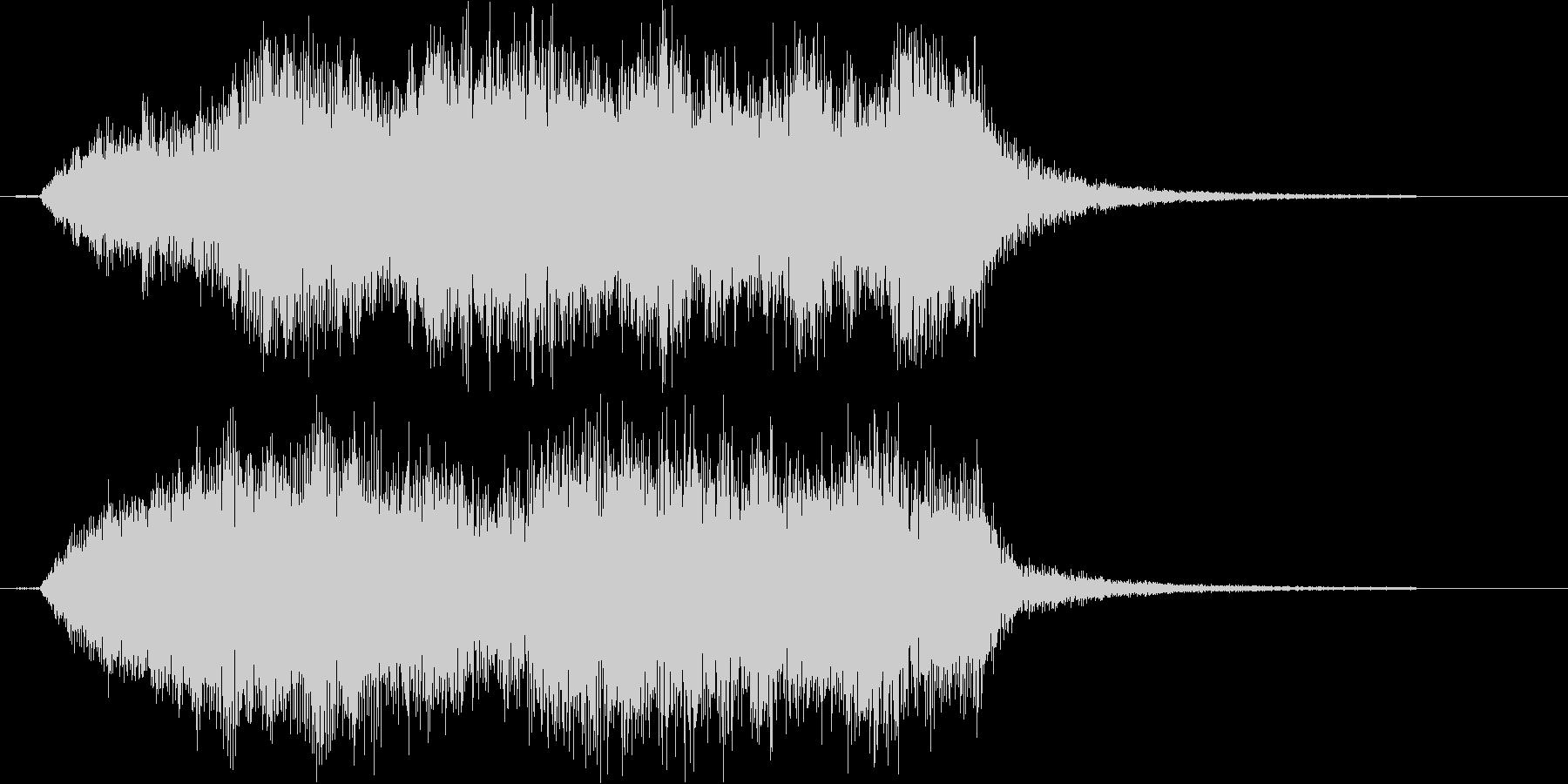 荘厳なピアノクラシックの未再生の波形