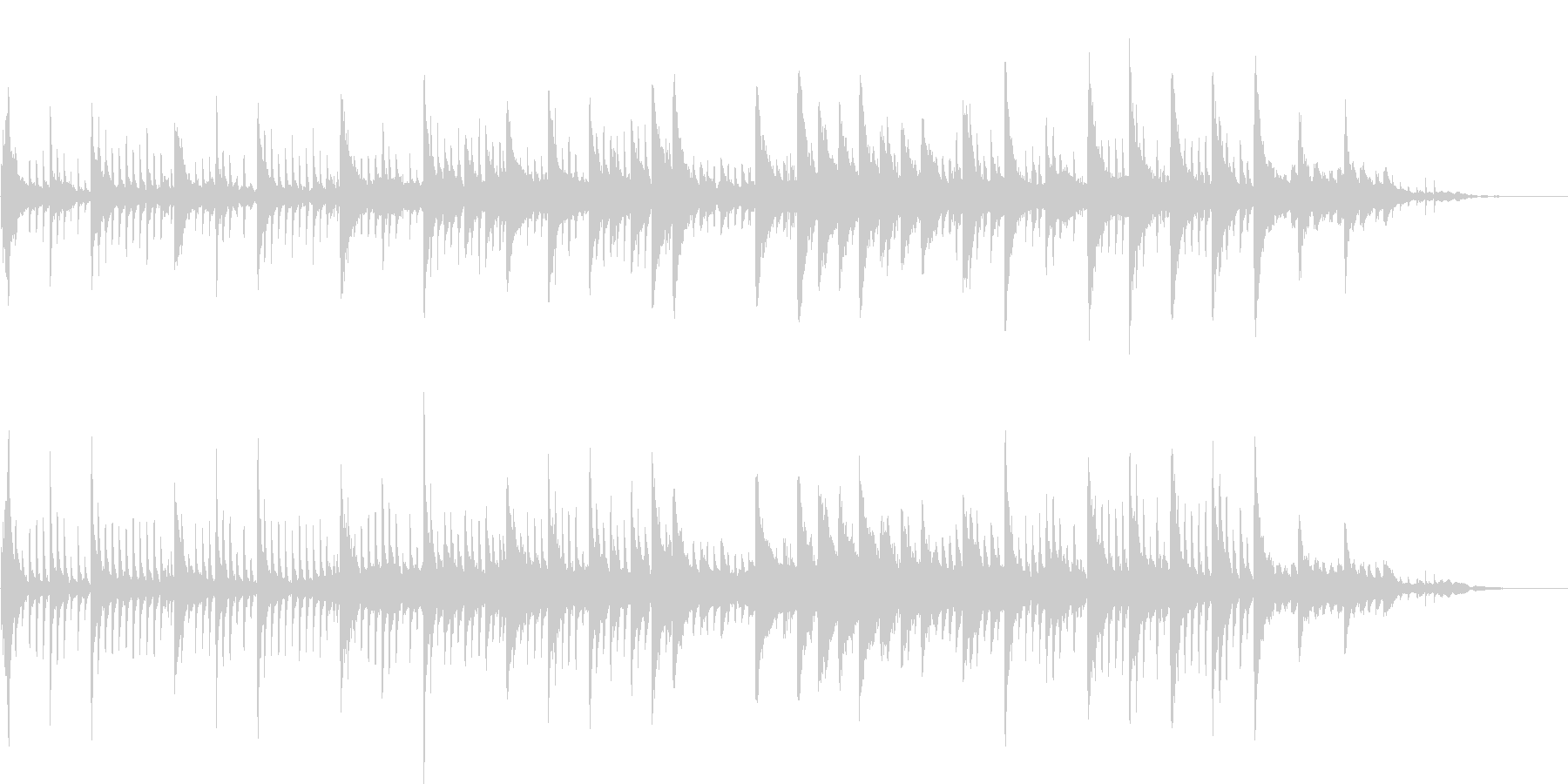 幻想的なシーンのためのピアノBGMの未再生の波形