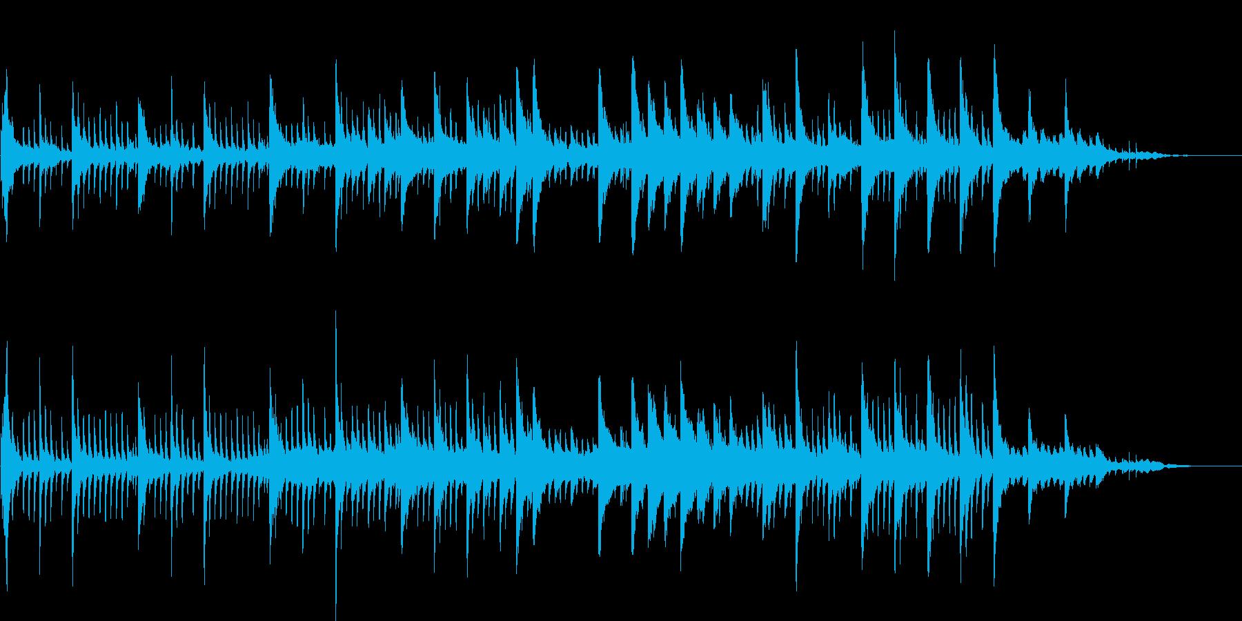 幻想的なシーンのためのピアノBGMの再生済みの波形