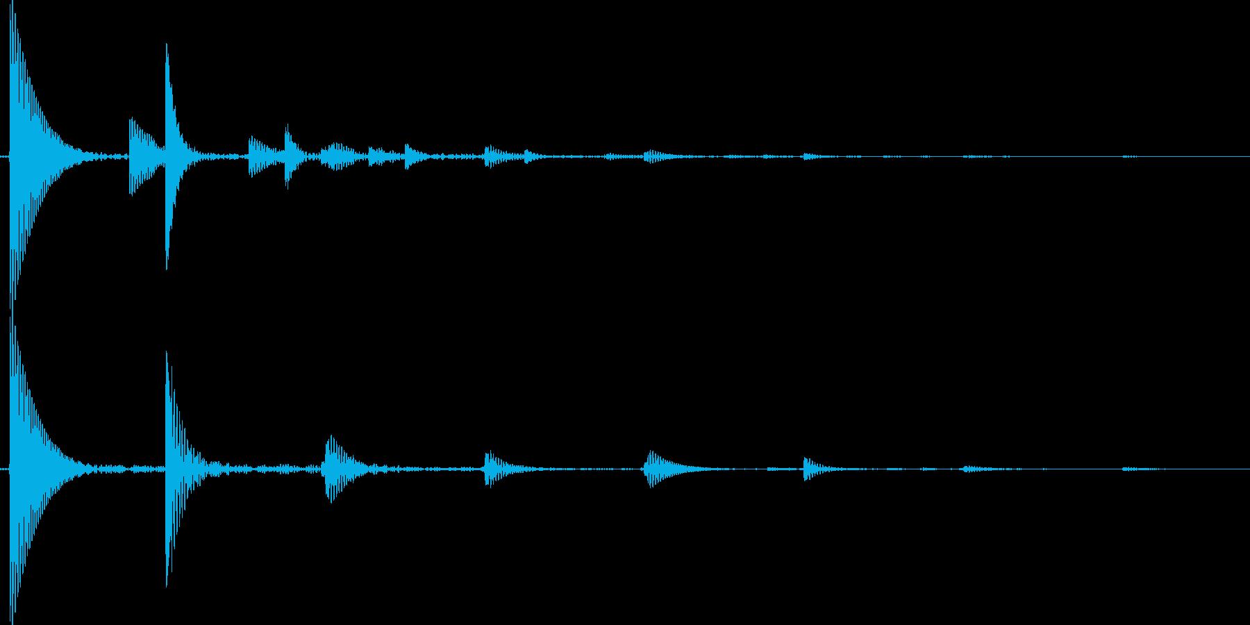 泡のハジける音の再生済みの波形