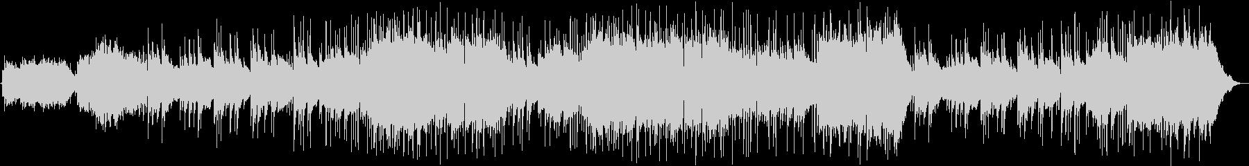 ピアノメインのBGMの未再生の波形