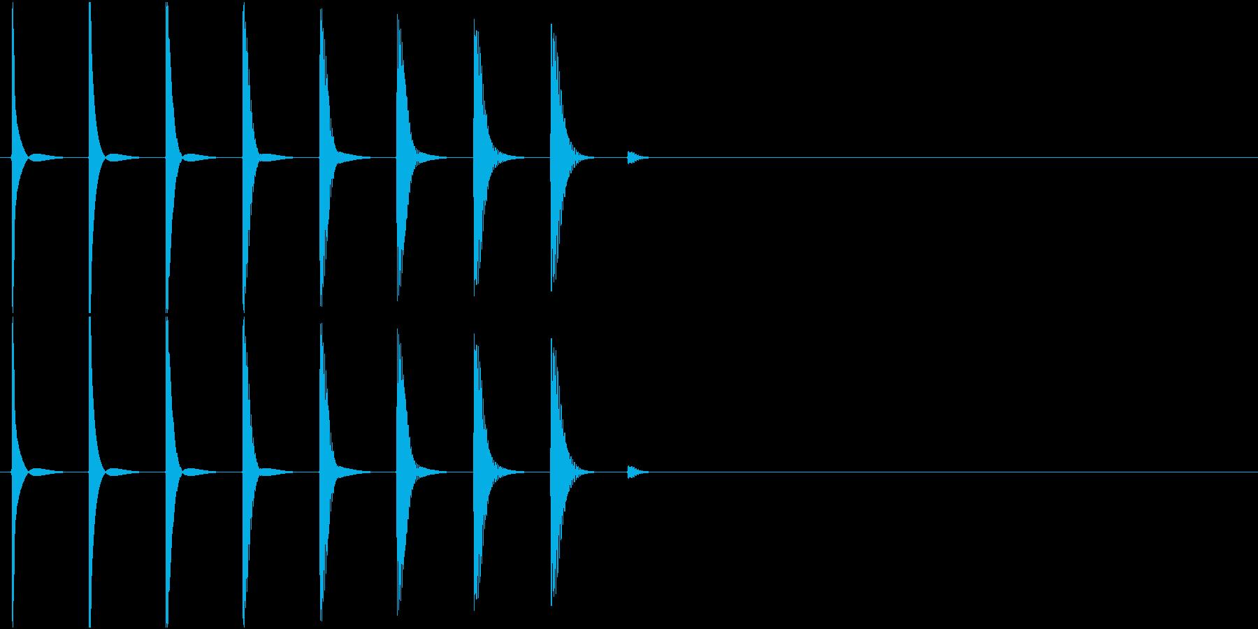 SE トホホ・・・ ミステイク音 呆れの再生済みの波形