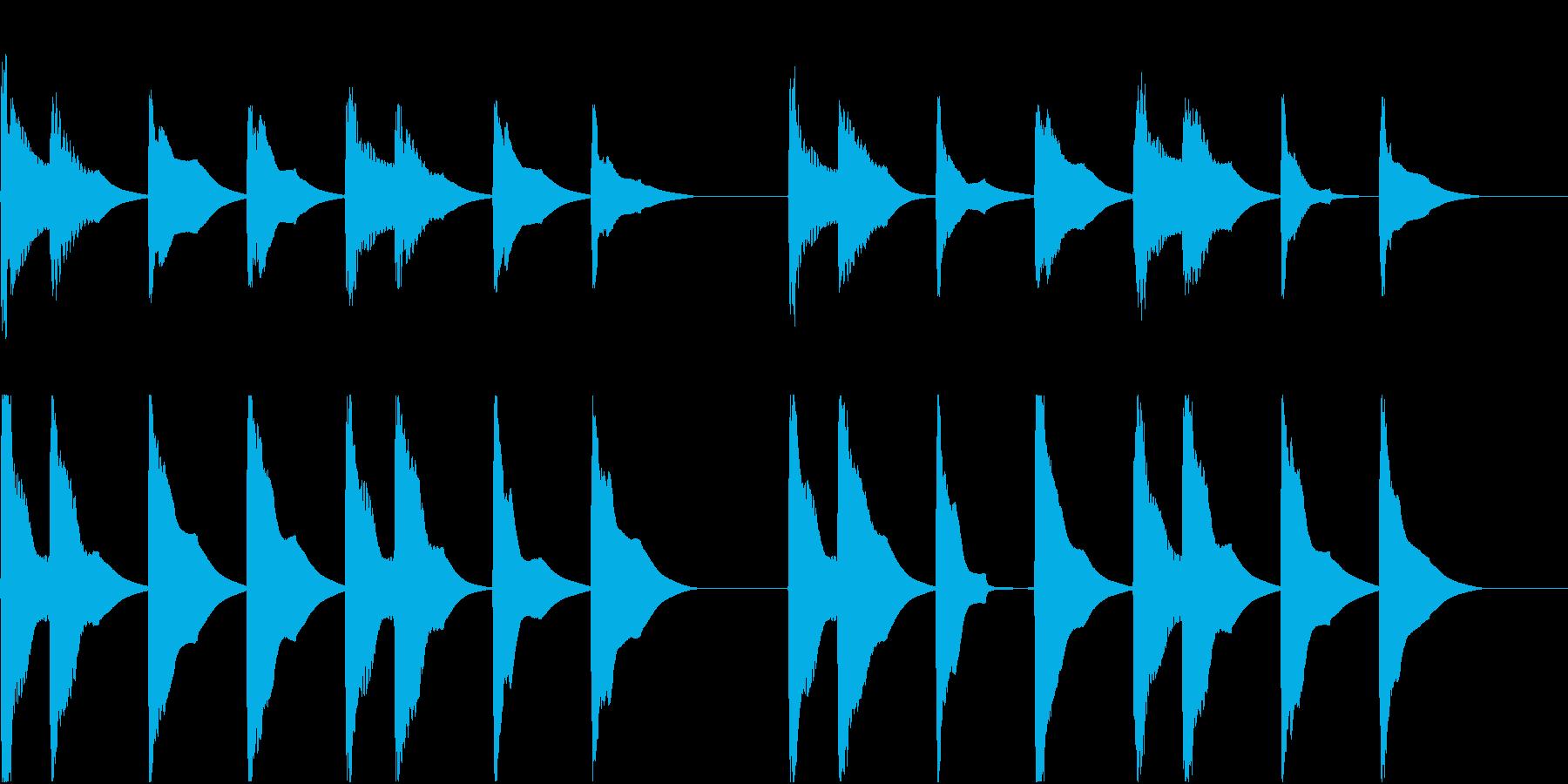 着信音 ループ お知らせ 通知 9の再生済みの波形