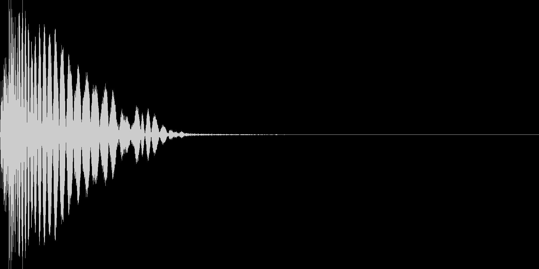 ヒット音。打撃音。強攻撃。の未再生の波形