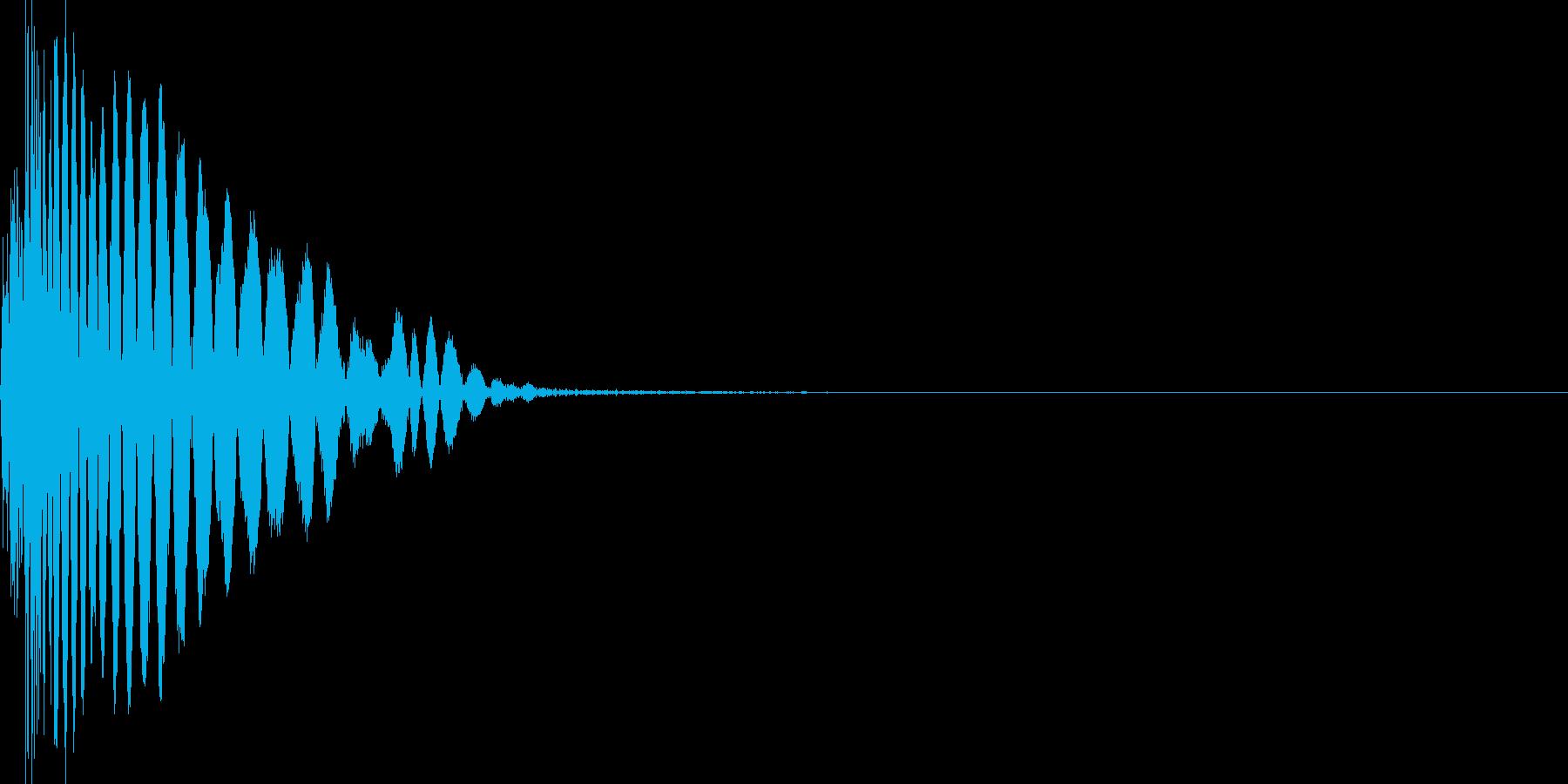 ヒット音。打撃音。強攻撃。の再生済みの波形
