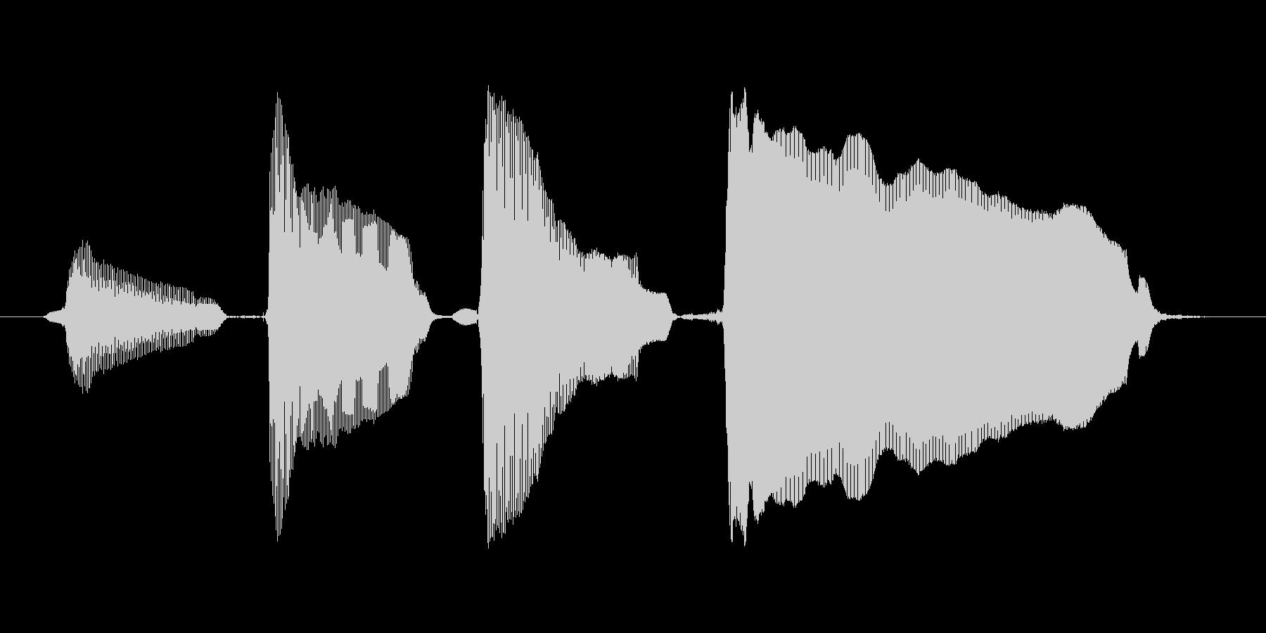 【ボイスSE】ピンポンパンポーン↑の未再生の波形