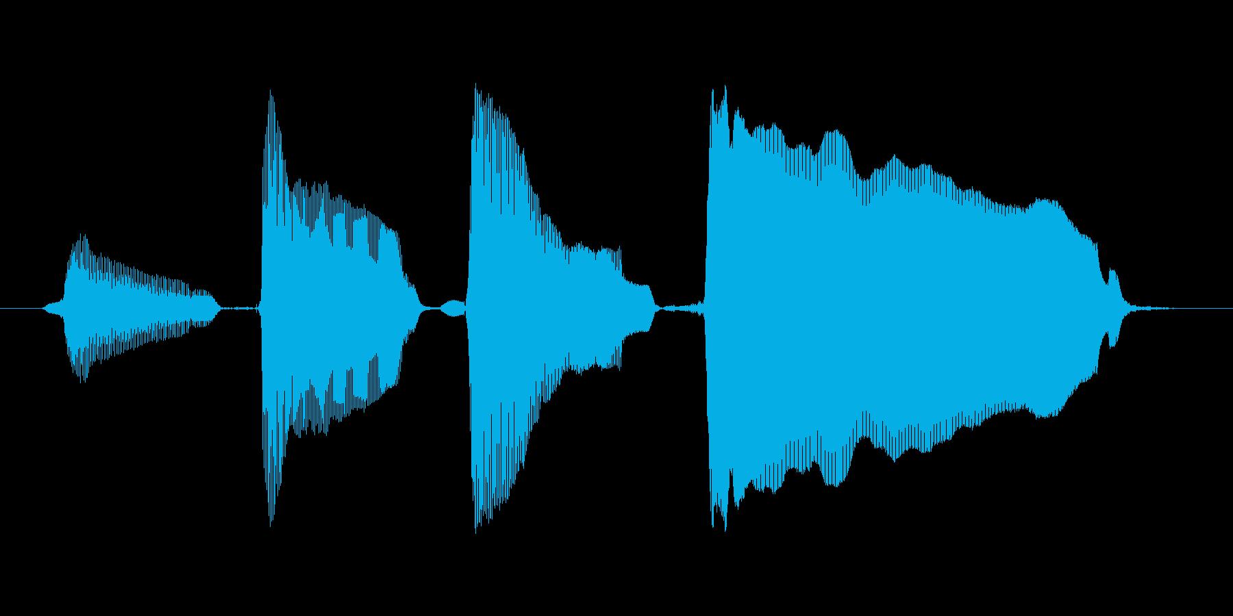 【ボイスSE】ピンポンパンポーン↑の再生済みの波形