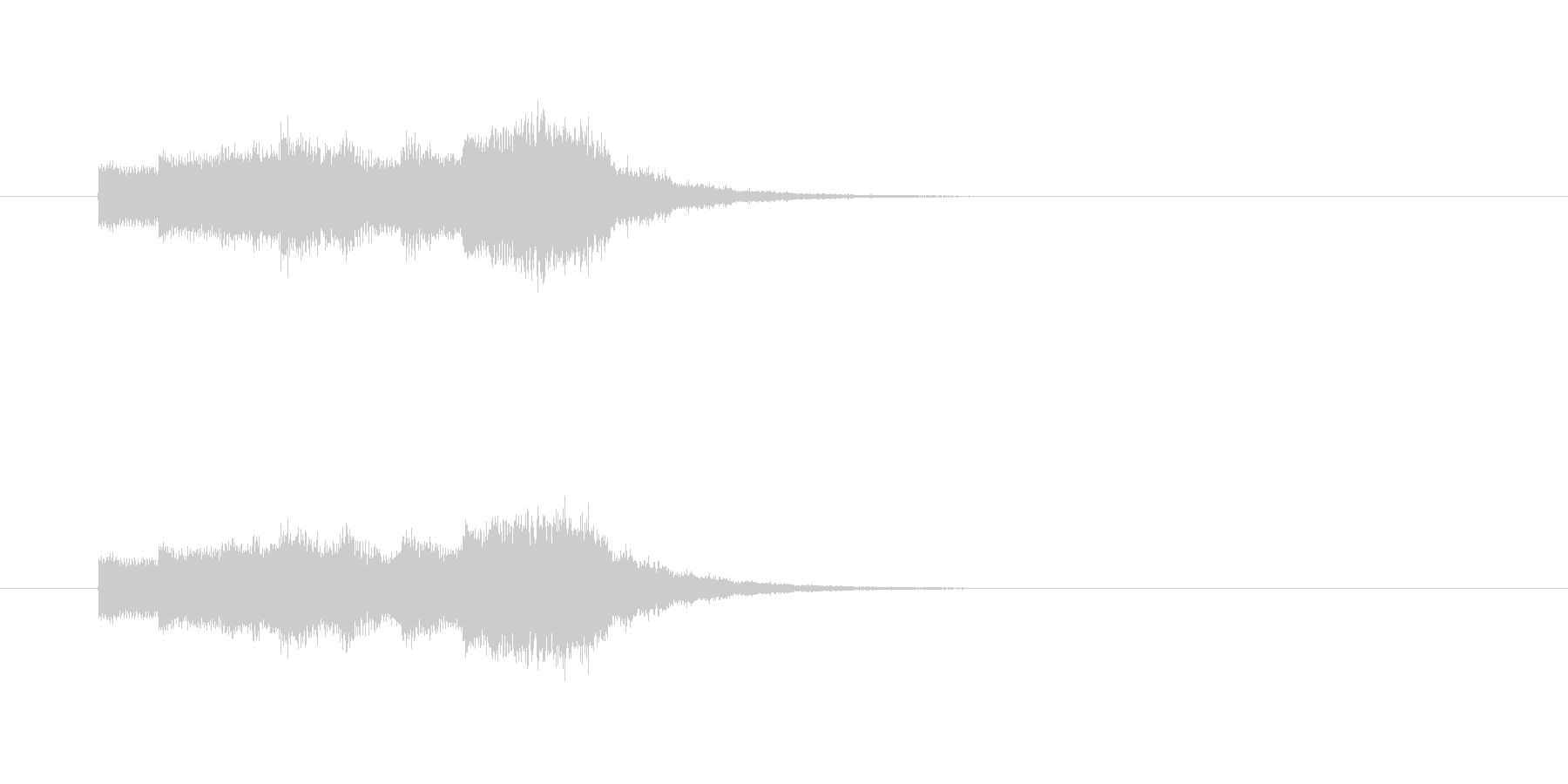 ステージクリア時のジングルの未再生の波形