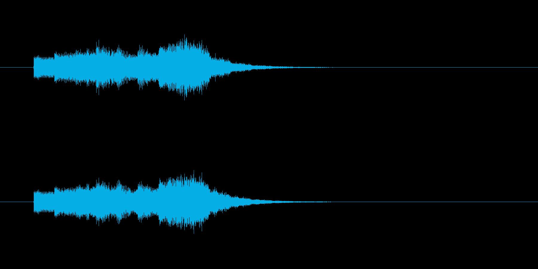 ステージクリア時のジングルの再生済みの波形