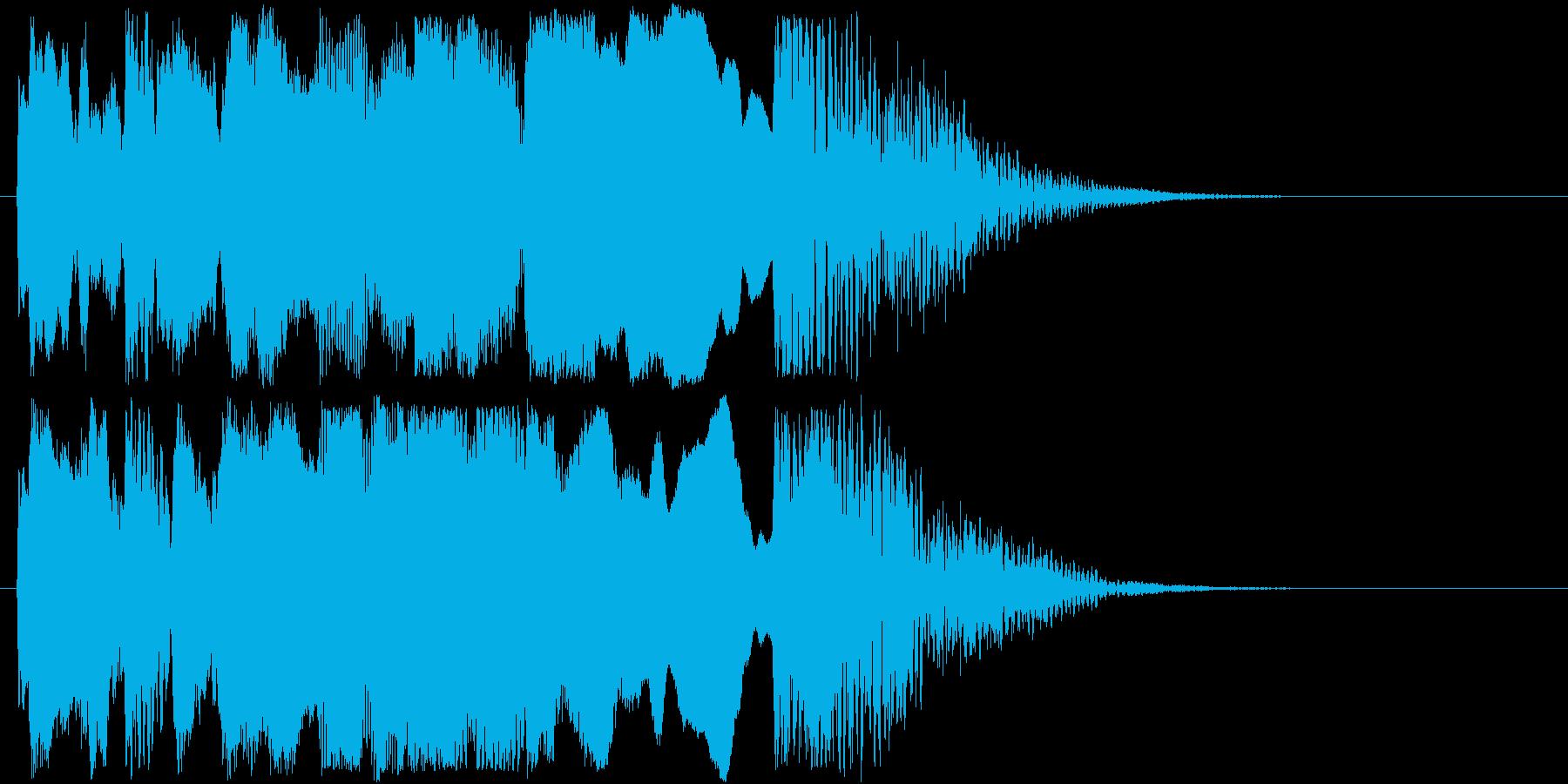 和風なジングルですの再生済みの波形