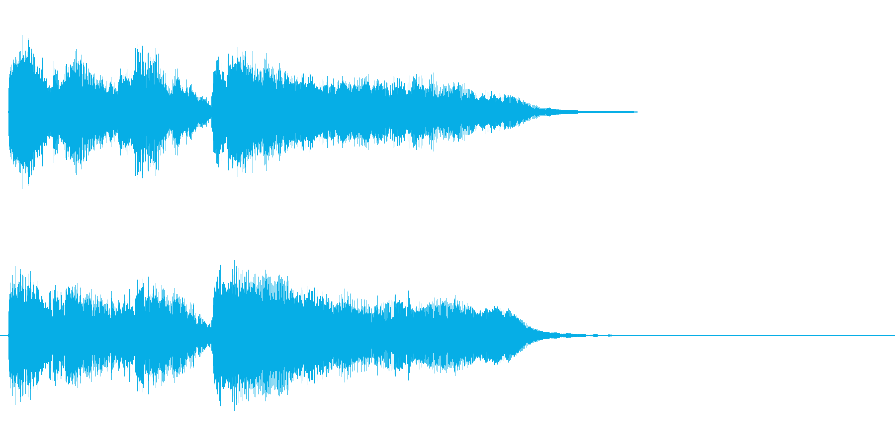 戦慄のホラー風マイナー調ジングルの再生済みの波形
