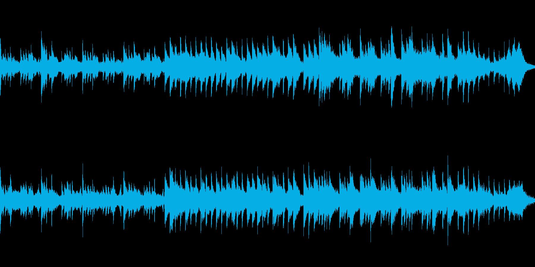 不気味で静か、怖い雰囲気のピアノの曲の再生済みの波形