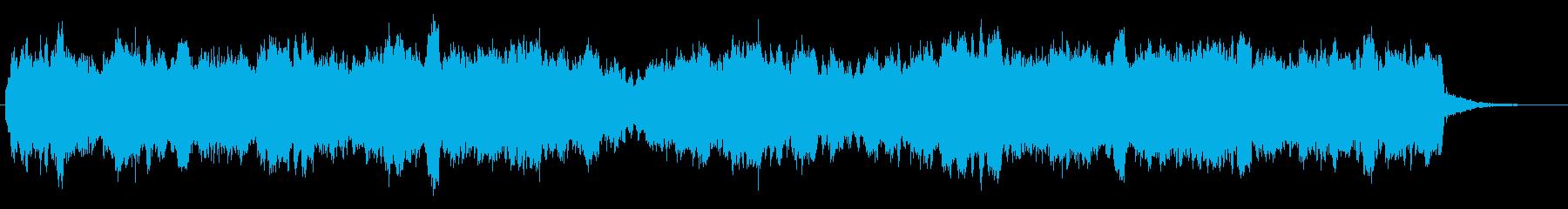 ホルンと笛のほのぼのとしたジングルの再生済みの波形