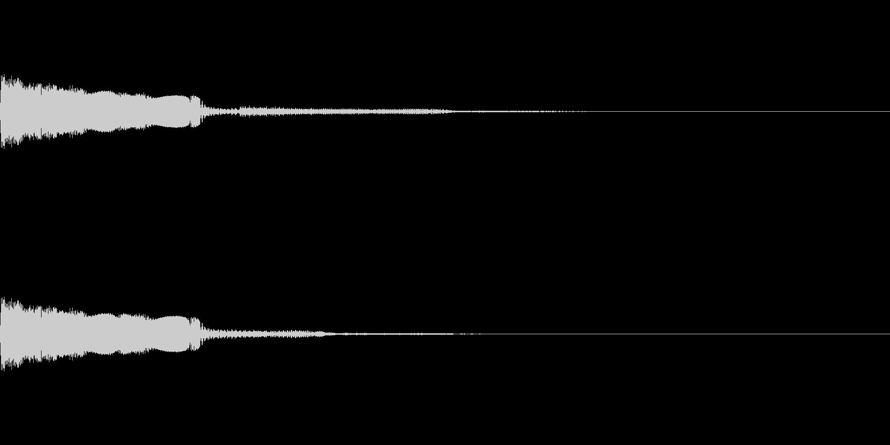 【SE 効果音】不安な音5の未再生の波形