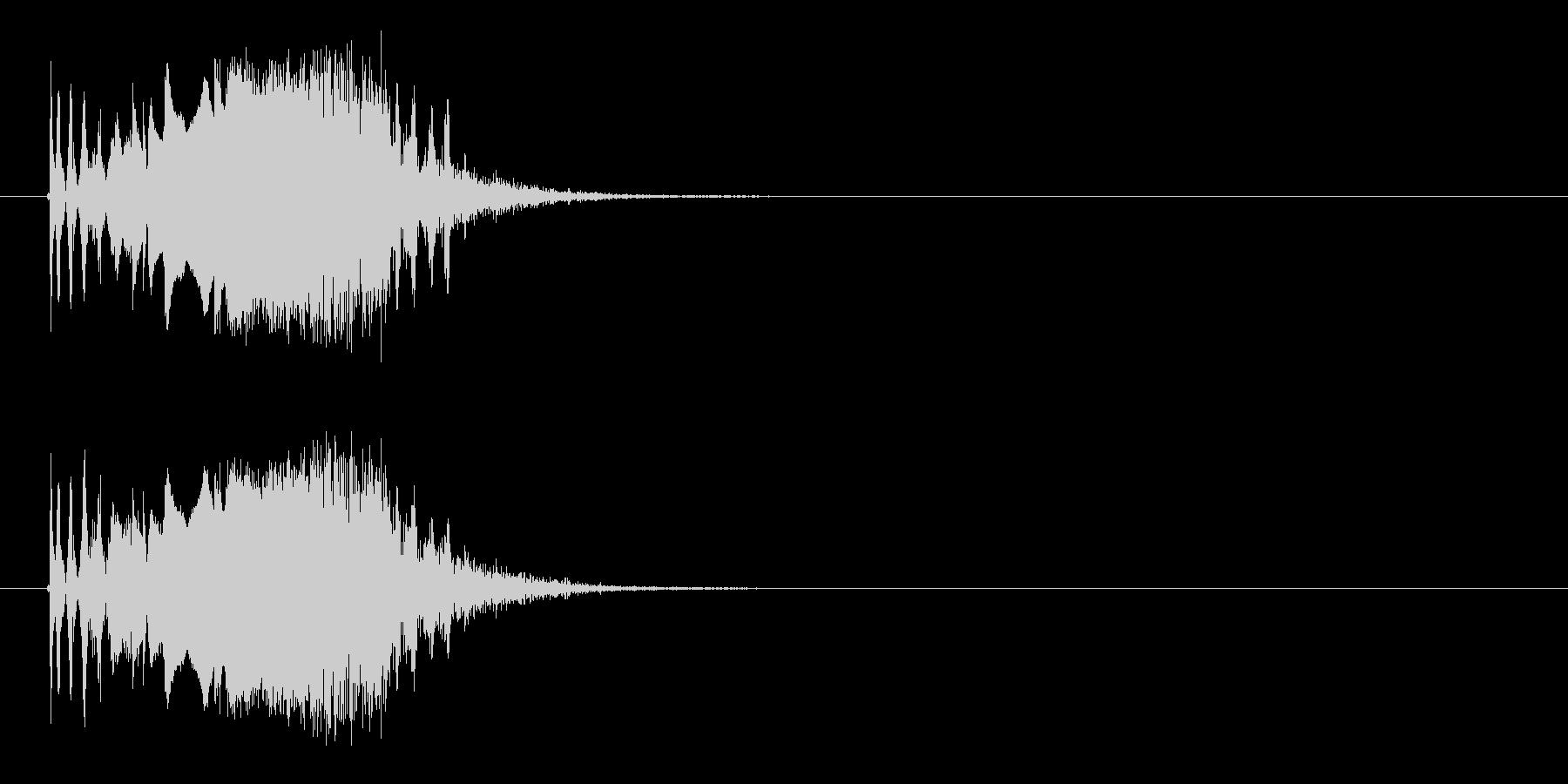 シューン(シューティング、ビーム)の未再生の波形