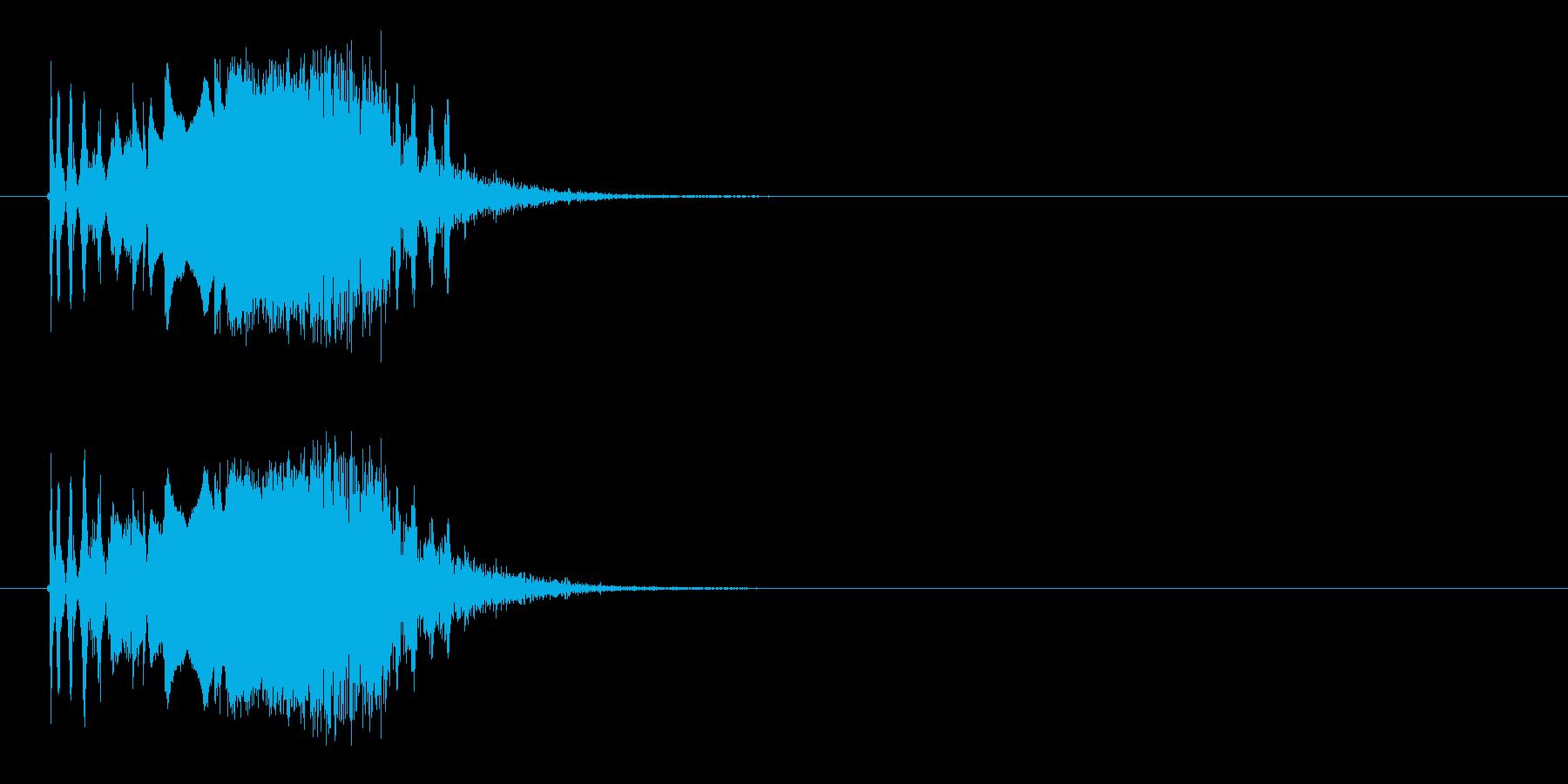 シューン(シューティング、ビーム)の再生済みの波形
