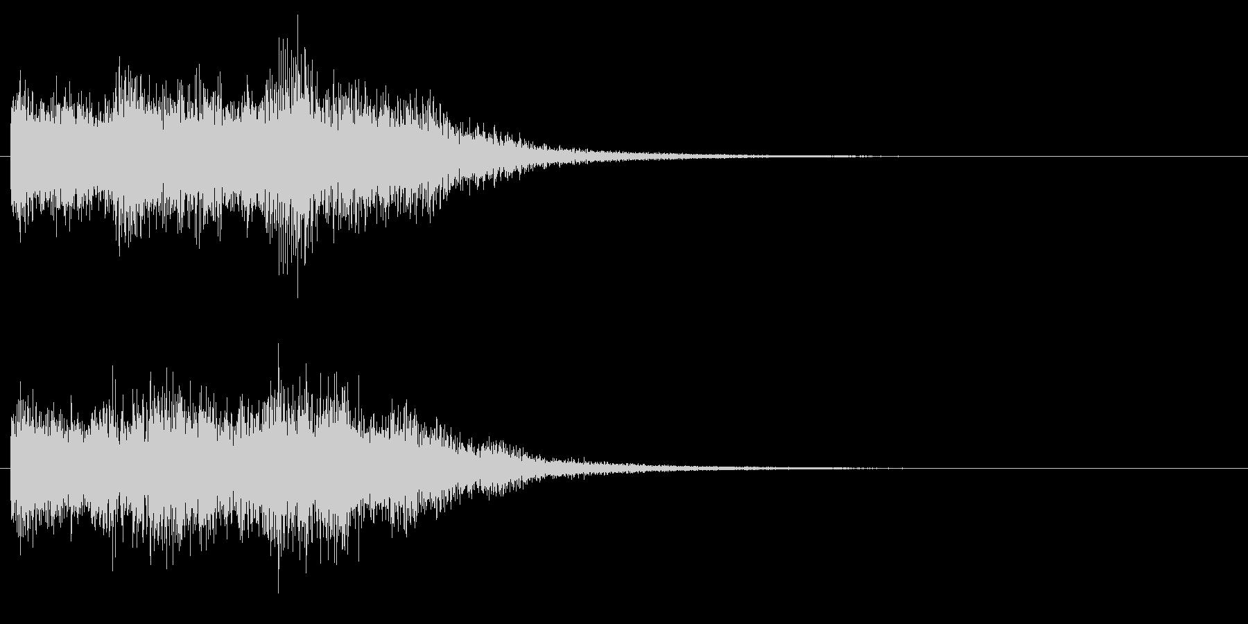 高め、明るめのエネルギー系の音 下降音の未再生の波形
