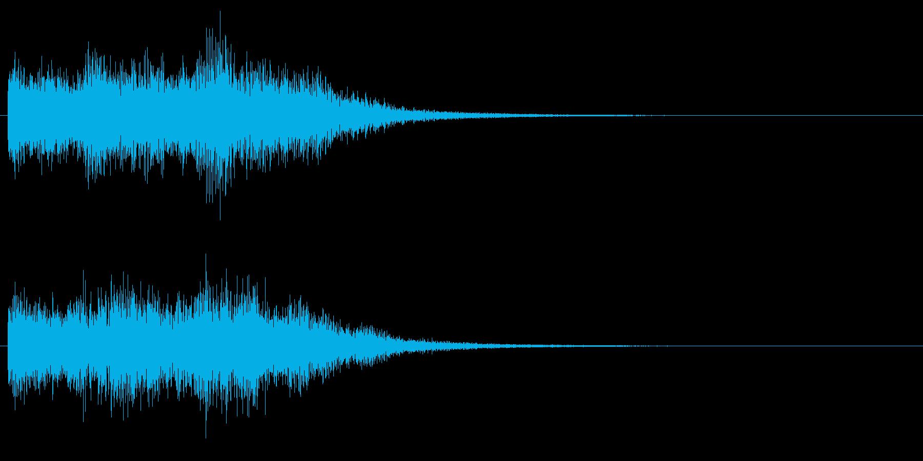 高め、明るめのエネルギー系の音 下降音の再生済みの波形