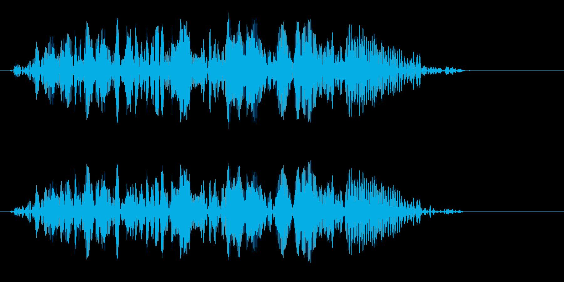 長い棒を振り下ろした時の音の再生済みの波形