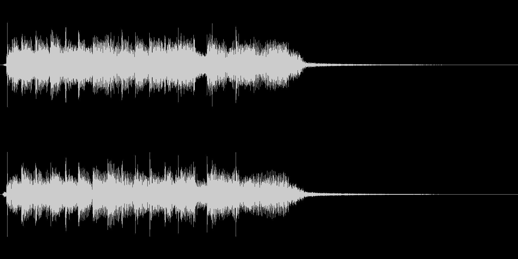 コーナータイトル、ゲーム用のロックリフの未再生の波形