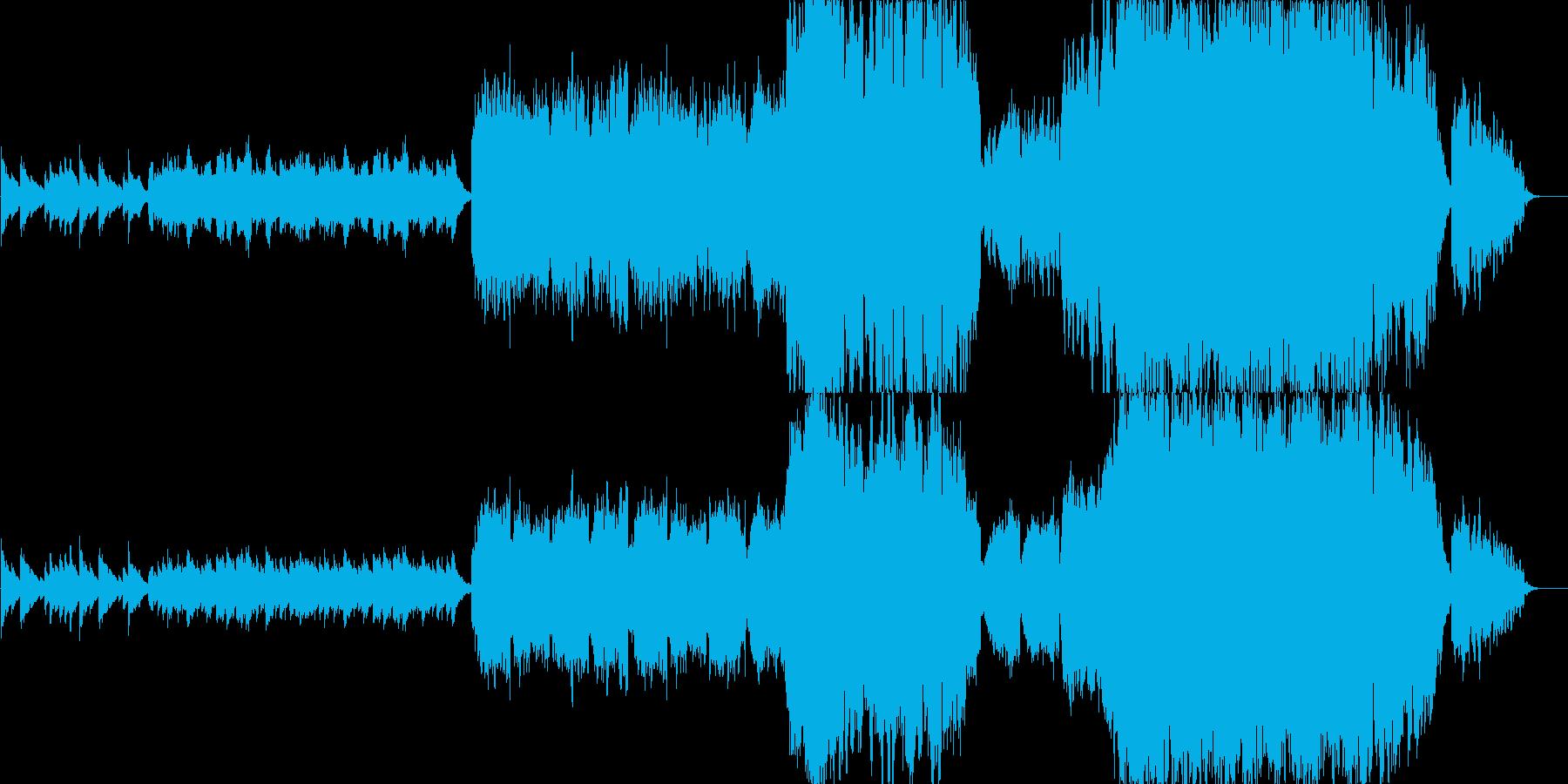 切ないピアノ&オーケストラの再生済みの波形