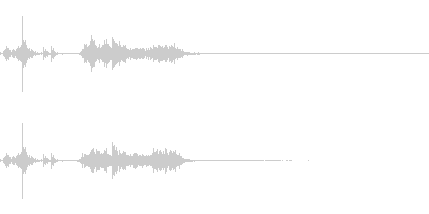 鉄製の扉が開く音-1の未再生の波形