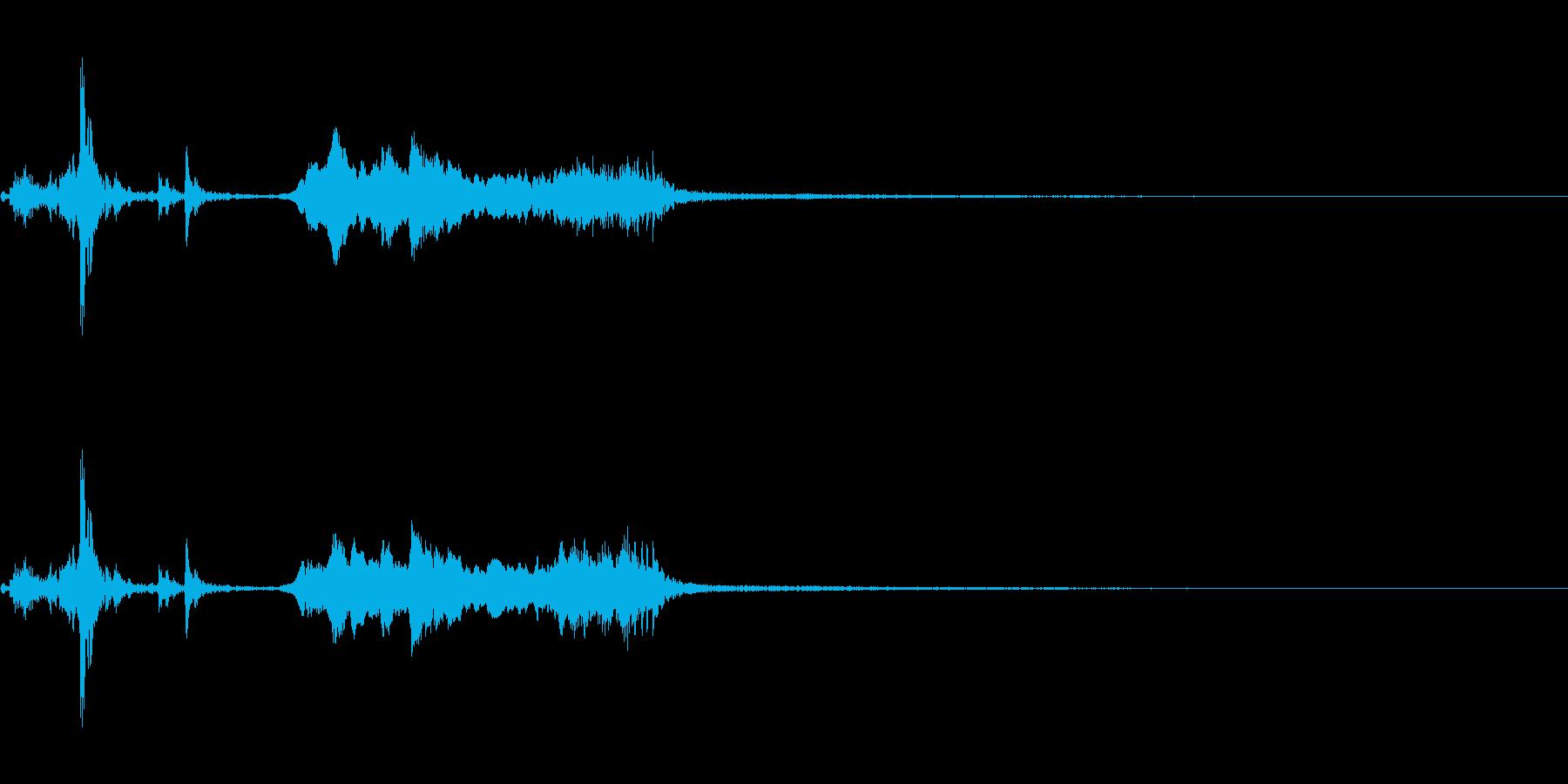 鉄製の扉が開く音-1の再生済みの波形