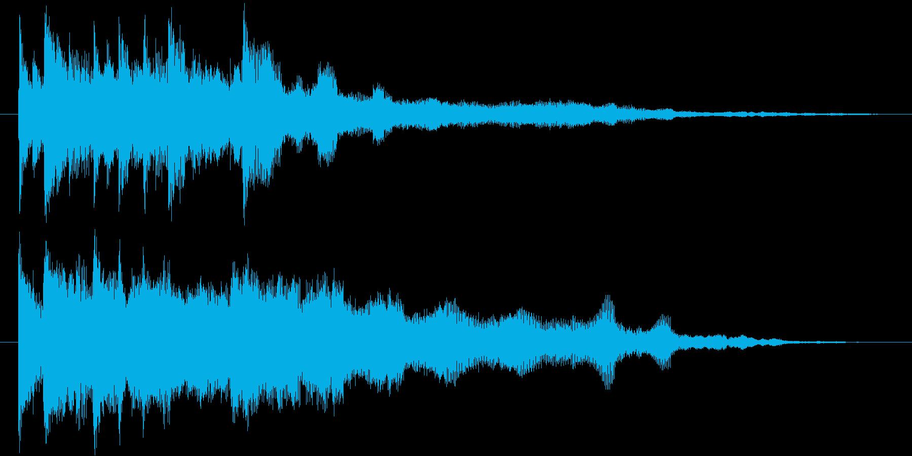 シンプル&スタンダードで洗練されたロゴの再生済みの波形