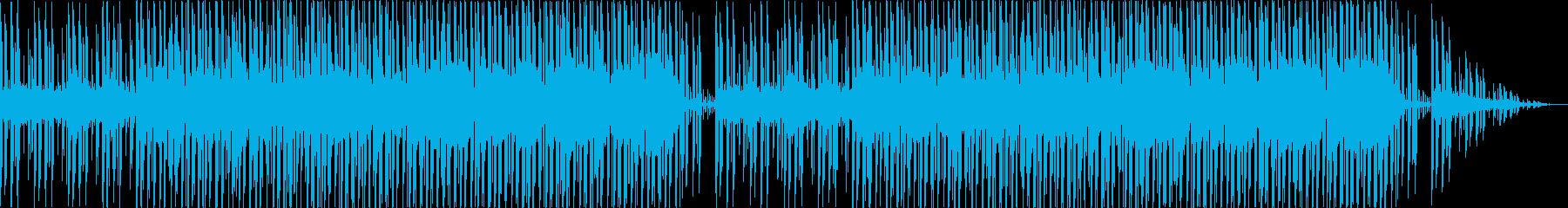 あやしい密林を探索するような民族的な曲の再生済みの波形