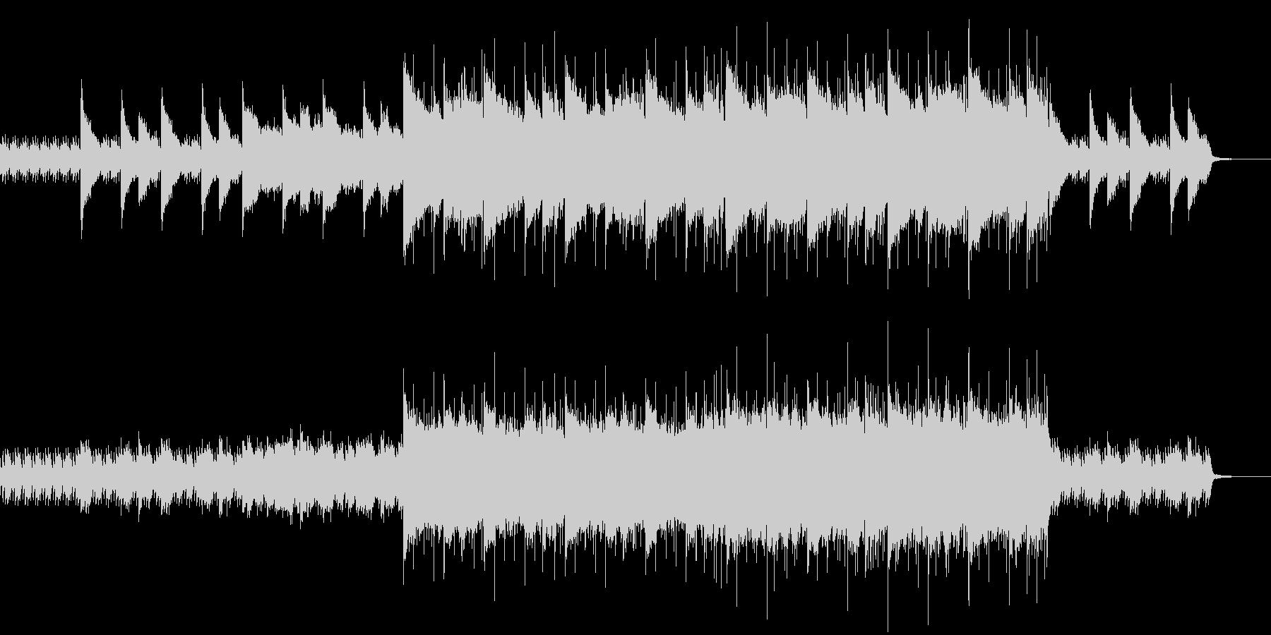 ピアノメインの感動的なロックの未再生の波形