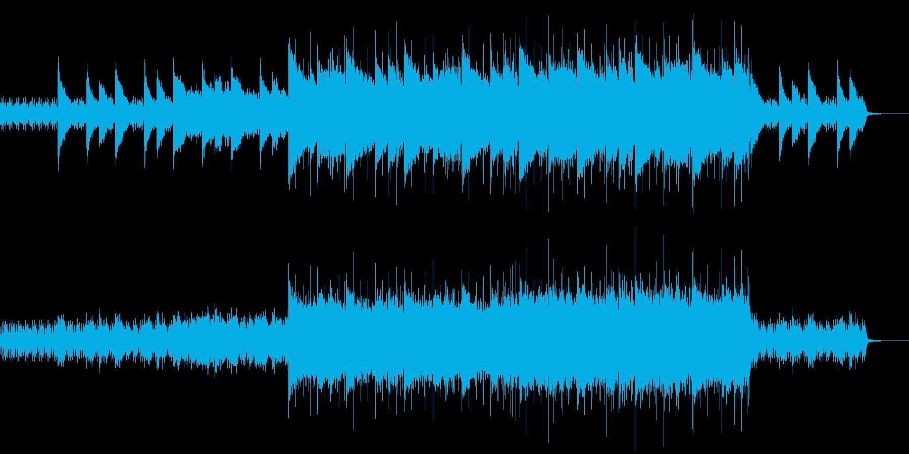 ピアノメインの感動的なロックの再生済みの波形