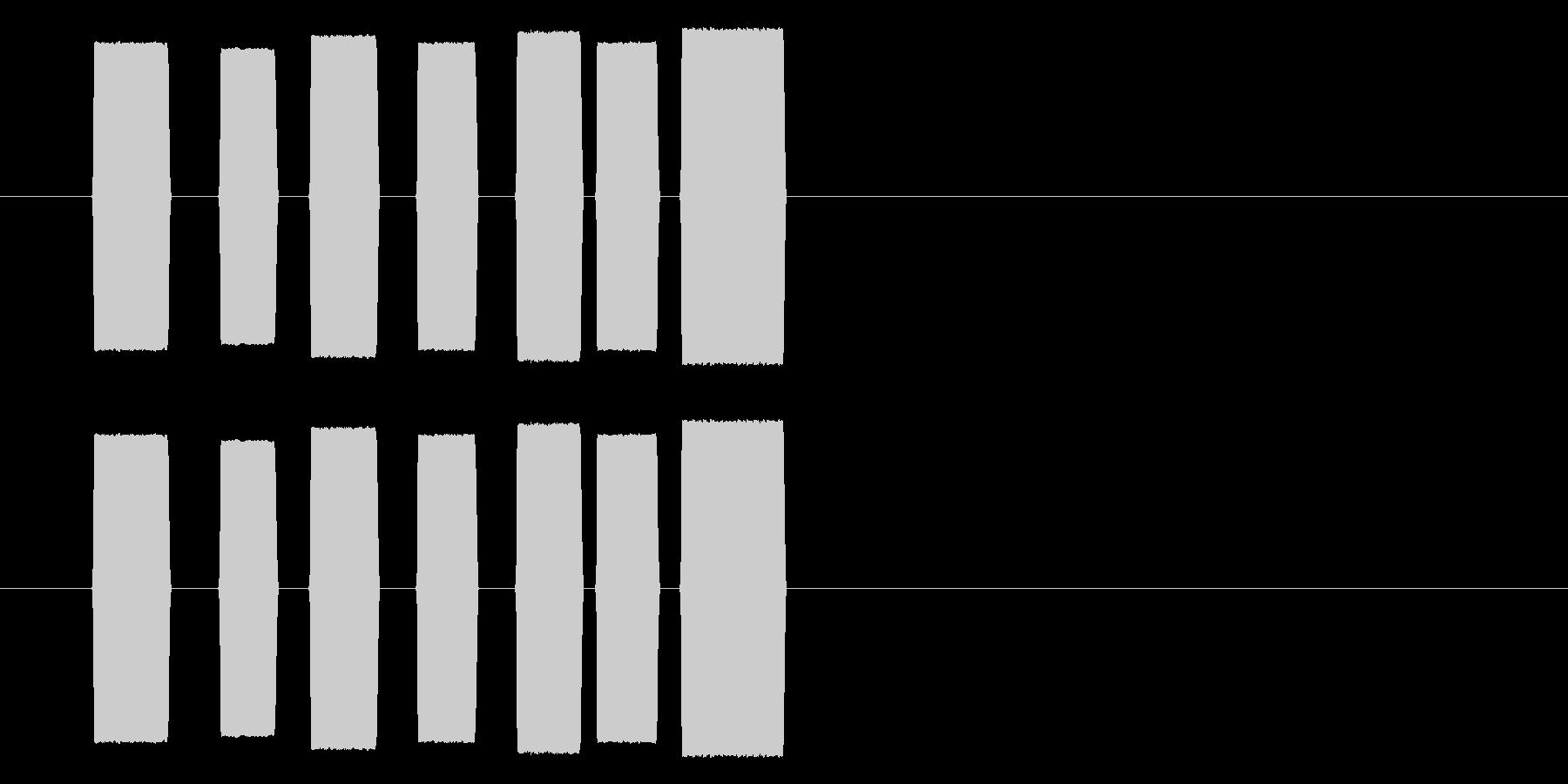 ポポパポピポパの未再生の波形