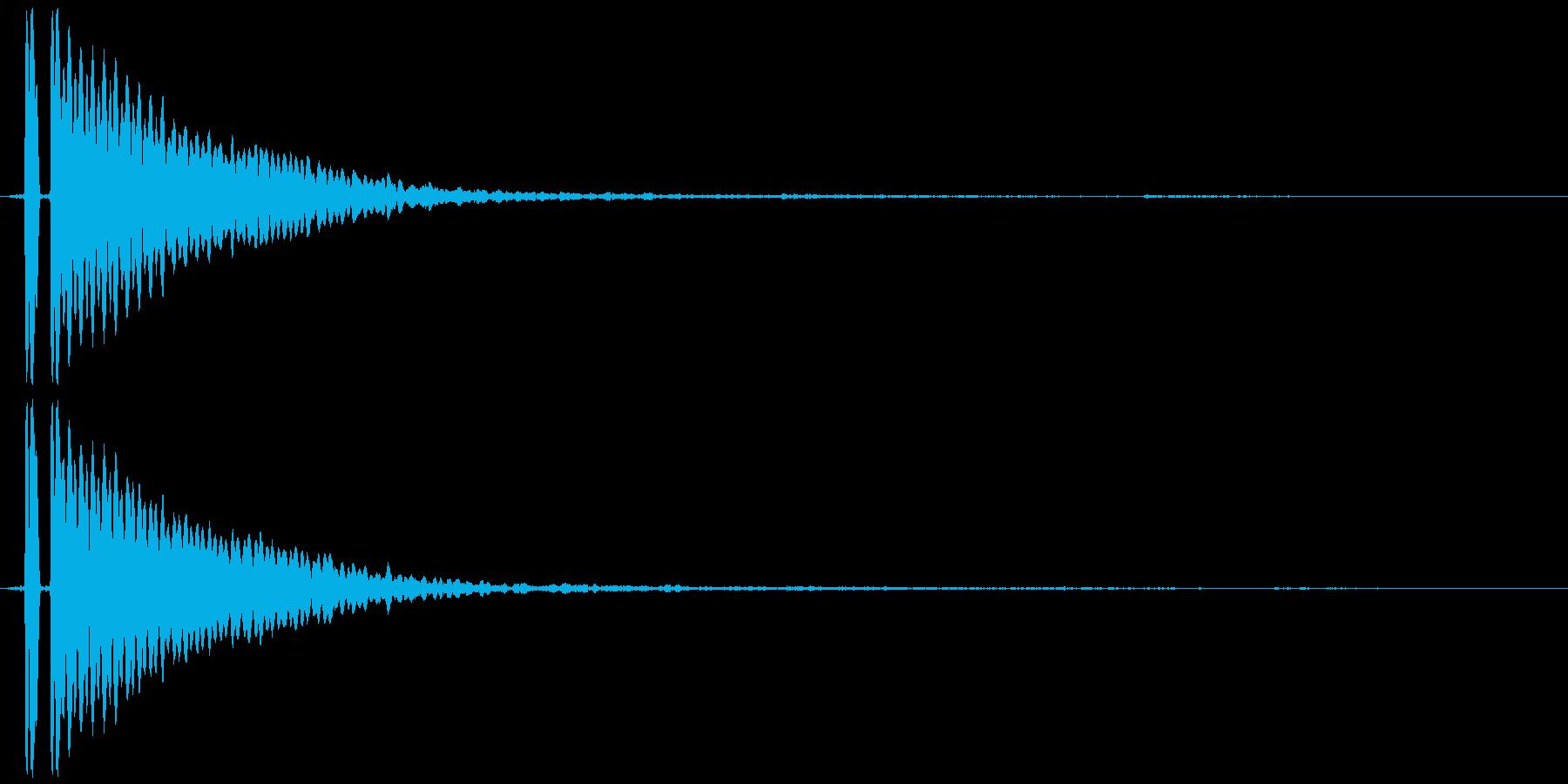 キーン(耳鳴りや何かの知らせ的なSE)の再生済みの波形