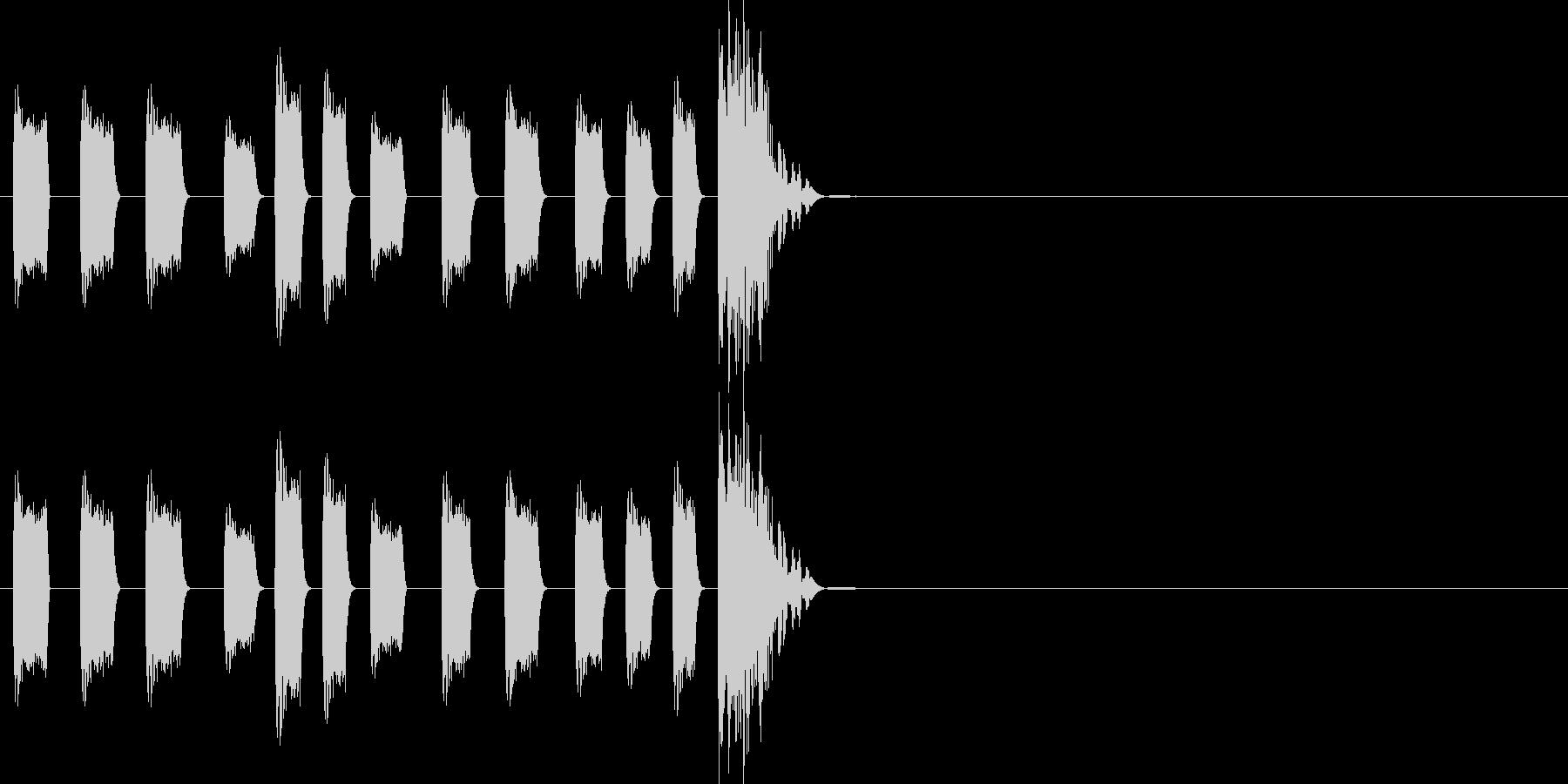 CMから明けたときのHit音ジングルの未再生の波形
